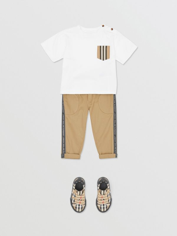 Logo Tape Cotton Chinos in Honey - Children | Burberry United Kingdom - cell image 2