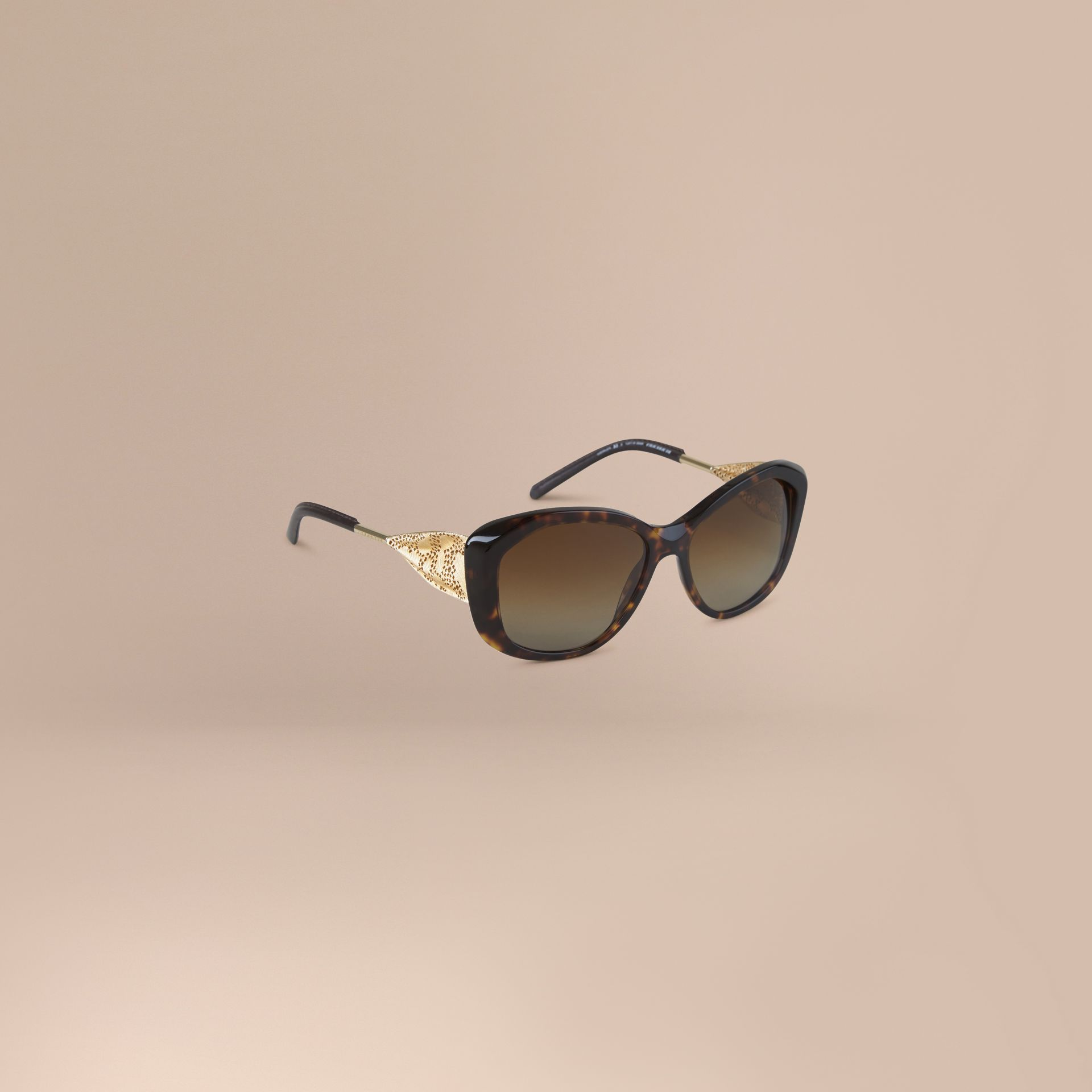 Tortoise shell Gabardine Collection Square Frame Sunglasses Tortoise Shell - gallery image 1