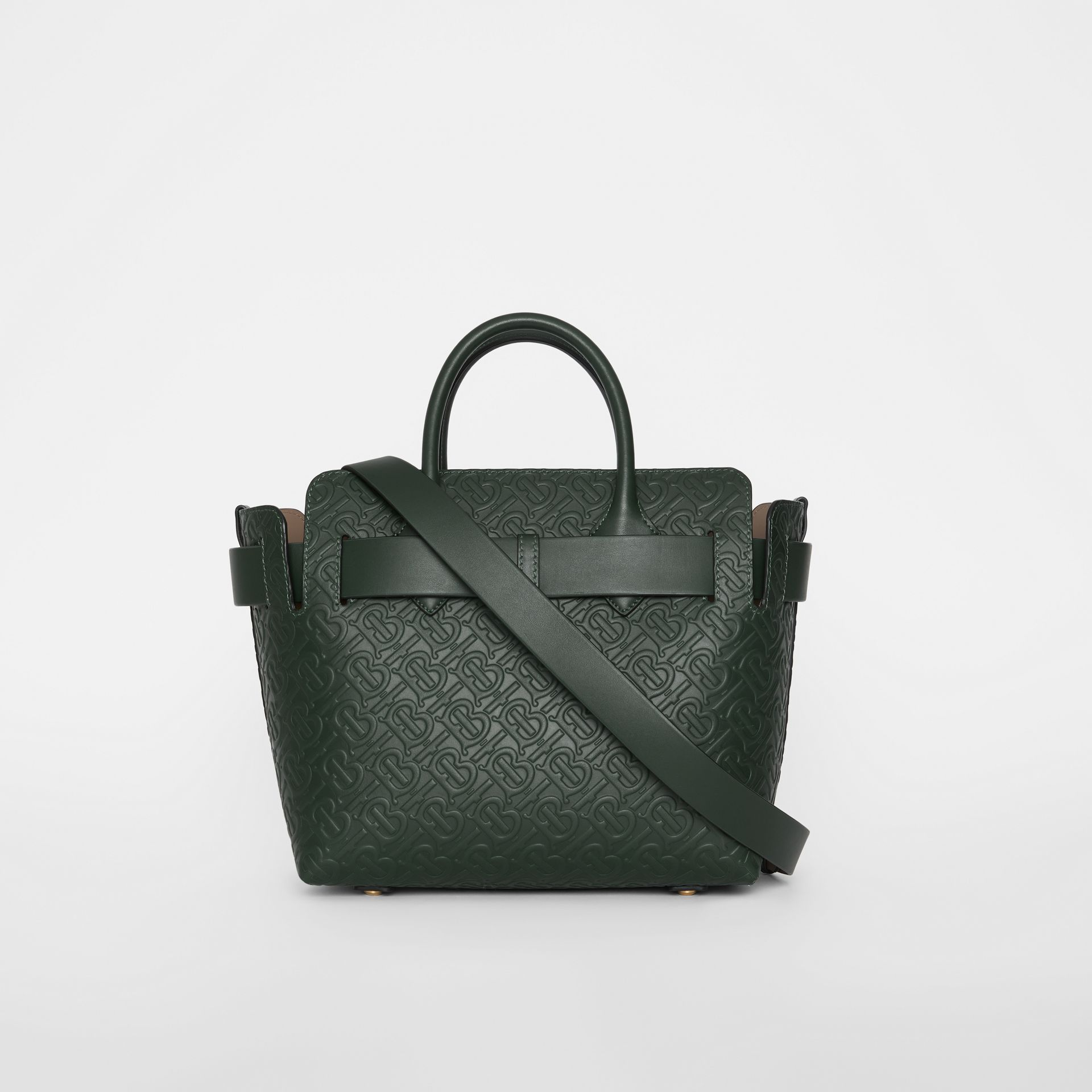 The Small Monogram Leather Triple Stud Belt Bag in Pine Green - Women | Burberry - gallery image 5