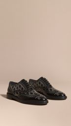Studded Leather Wingtip Brogues