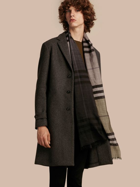 Single-breasted Wool Blend Tailored Coat