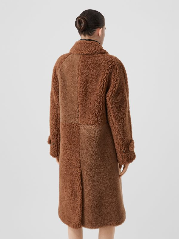 Faux Shearling and Camel Hair Blend Coat in Brown - Women | Burberry United Kingdom - cell image 2