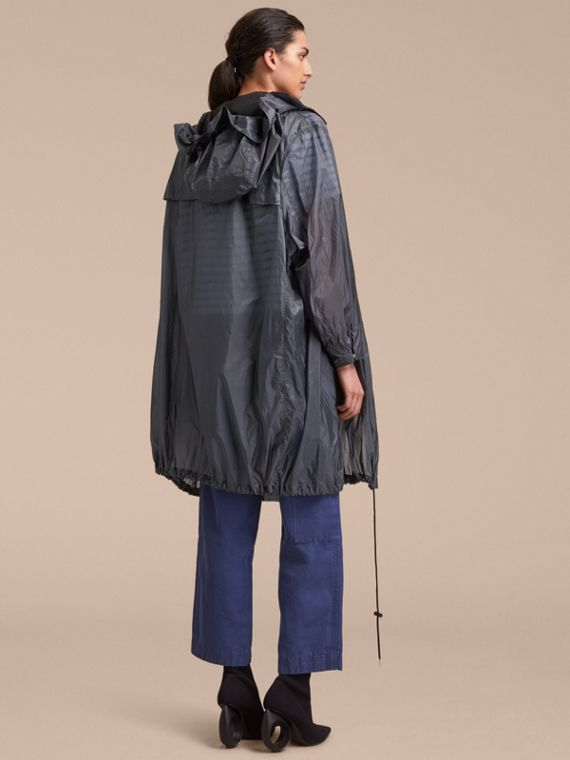 Hooded Lightweight Oversize Parka in Airforce Blue - Women | Burberry - cell image 2