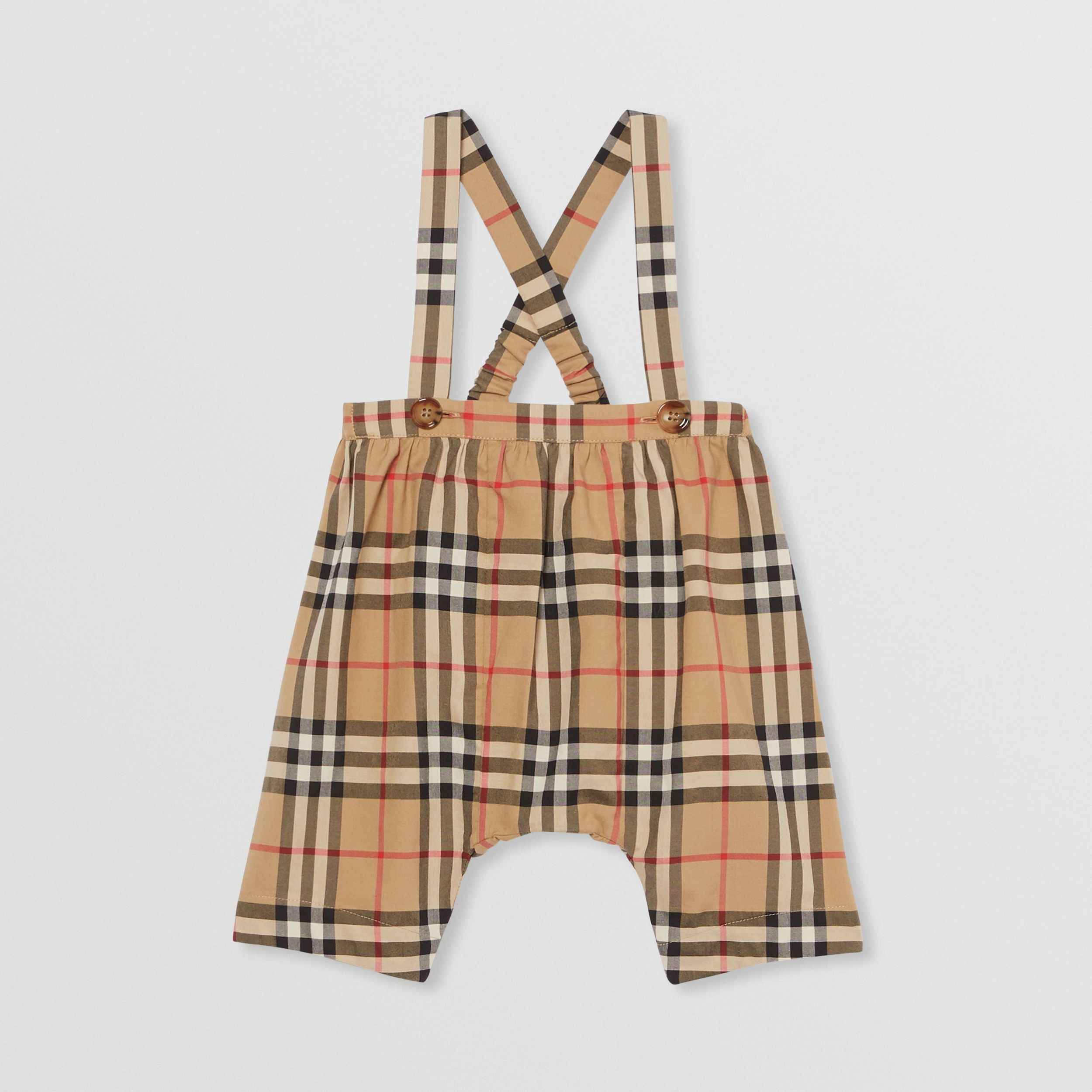Vintage Check Cotton Two-piece Baby Gift Set in White - Children | Burberry - 3
