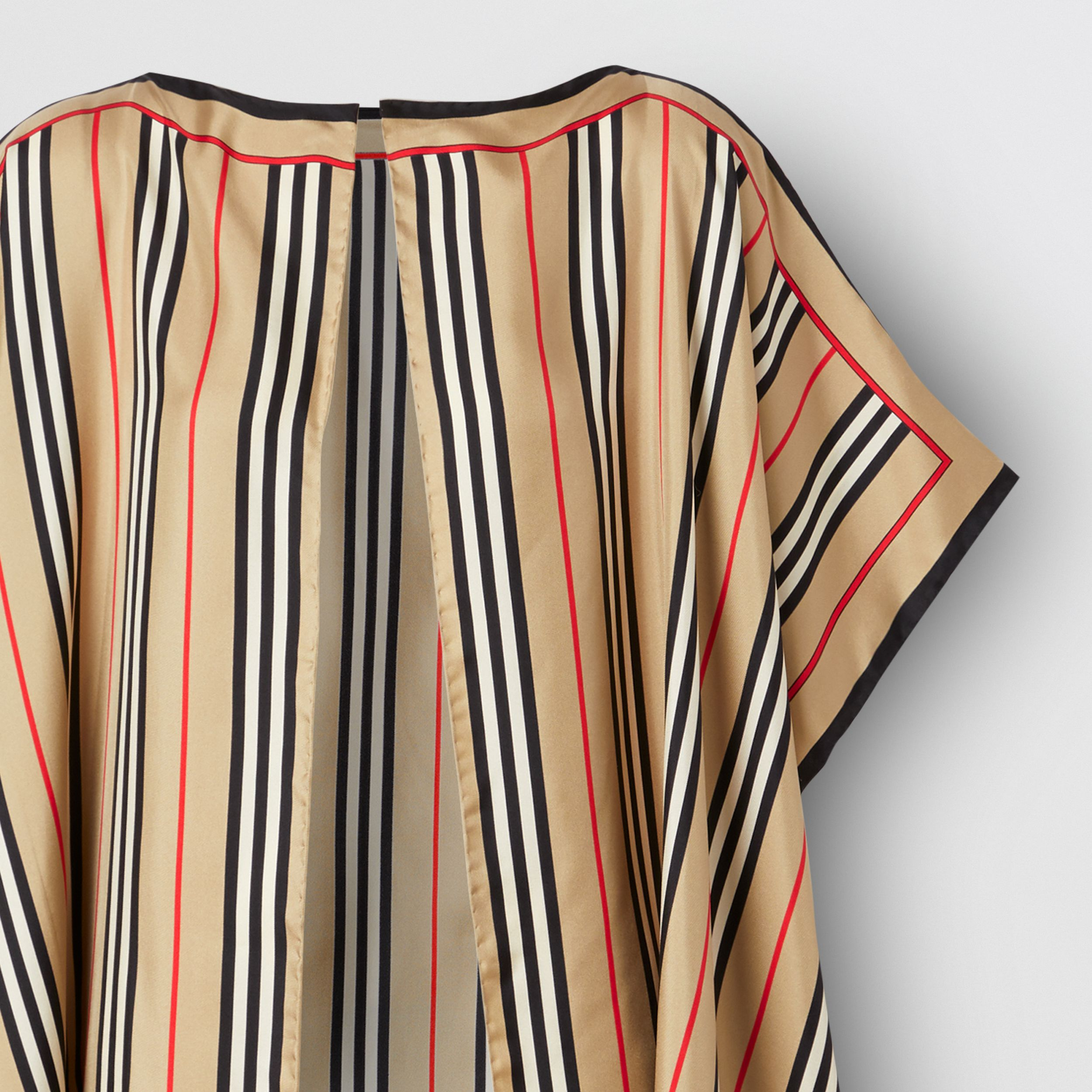 Icon Stripe Print Silk Twill Cape - Women | Burberry - 3