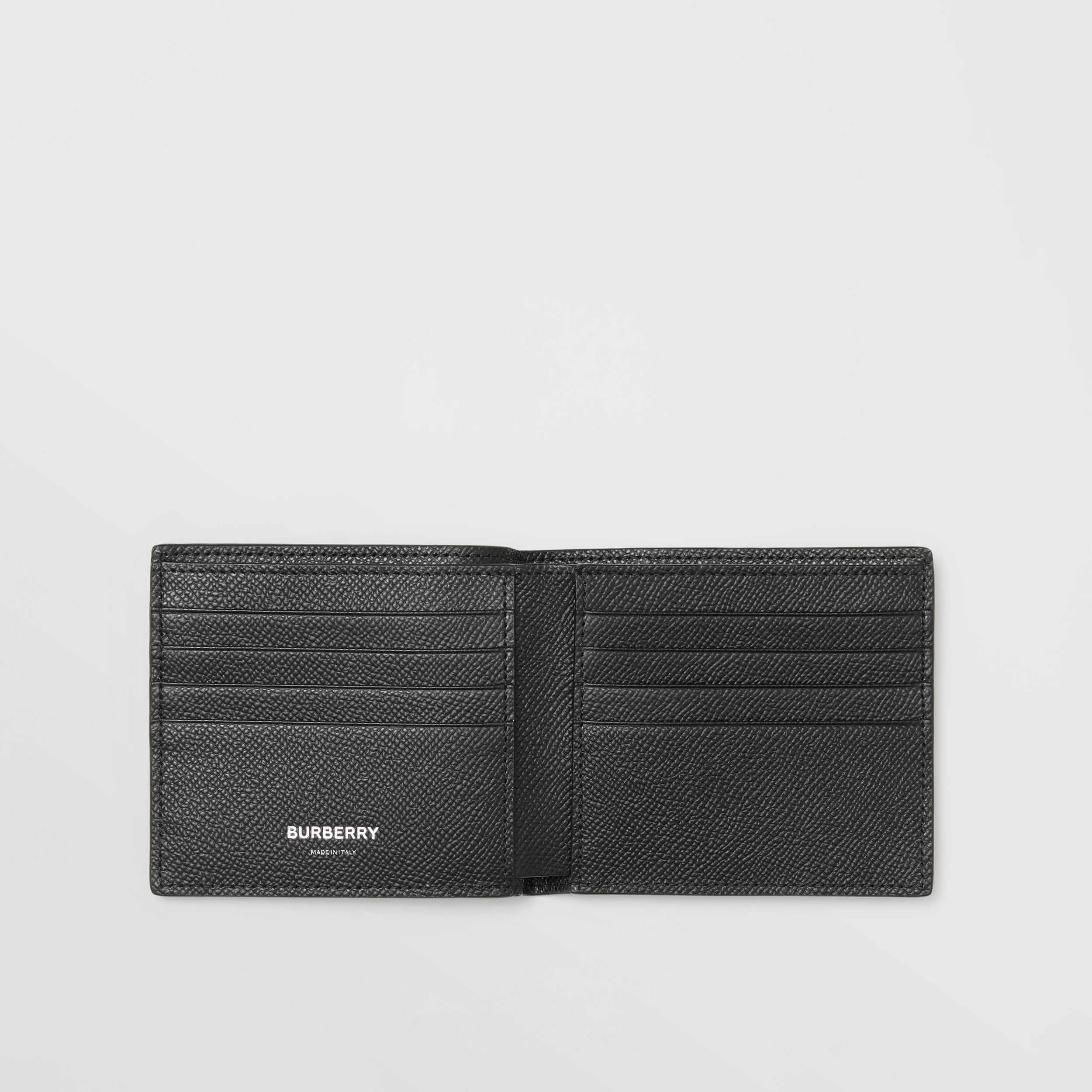 Icon Stripe Print Leather International Bifold Wallet in Black - Men | Burberry - 3