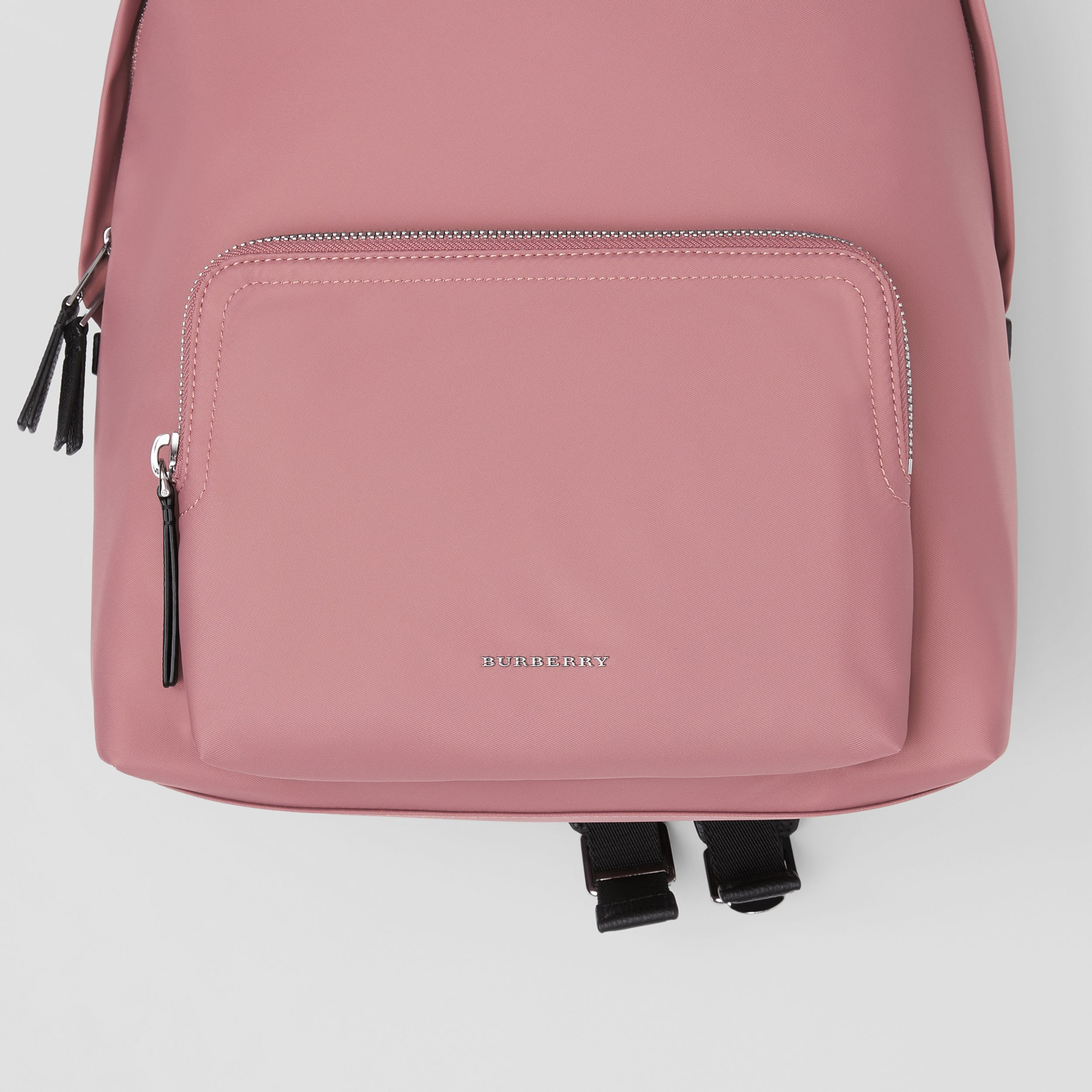 Logo Detail Backpack in Mauve Pink | Burberry - 2