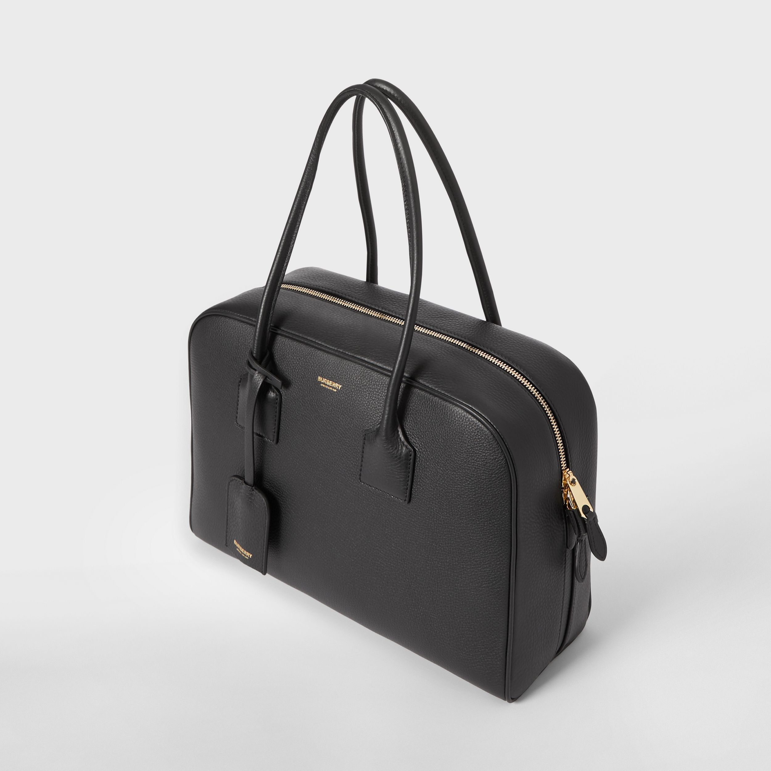 Large Leather Half Cube Bag in Black - Women | Burberry Hong Kong S.A.R. - 4