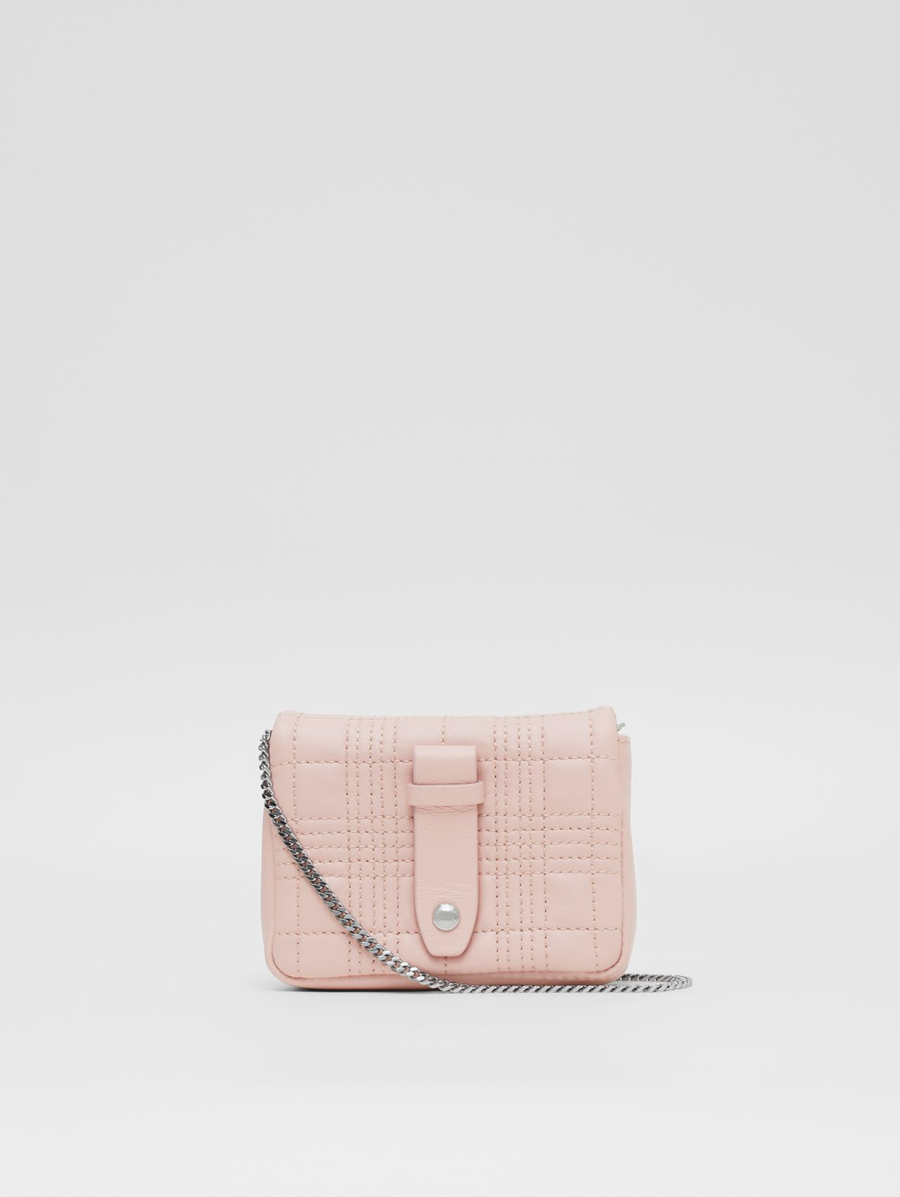 Micro Quilted Lambskin Lola Bag in Blush Pink