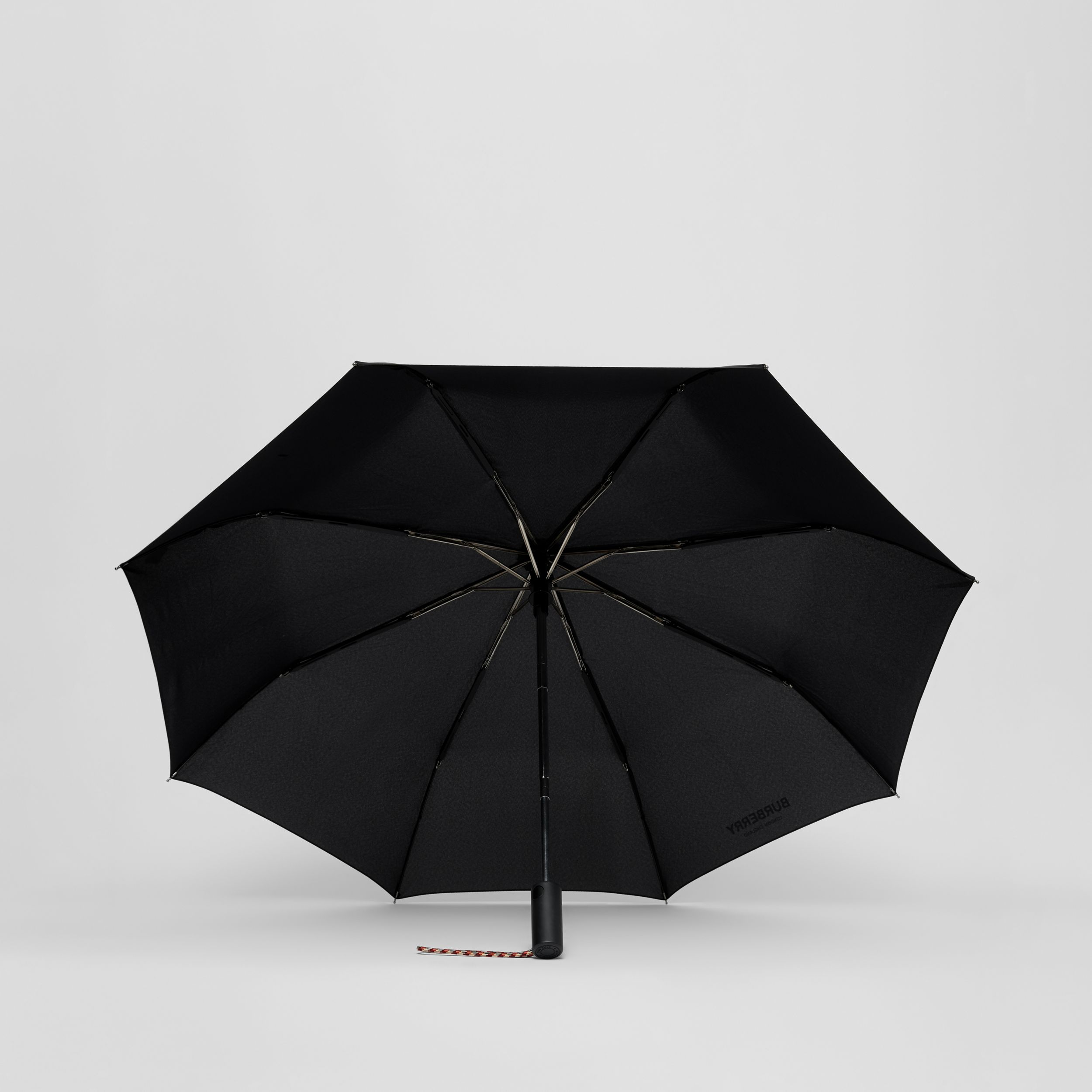 Logo Print Folding Umbrella in Black | Burberry Hong Kong S.A.R. - 3