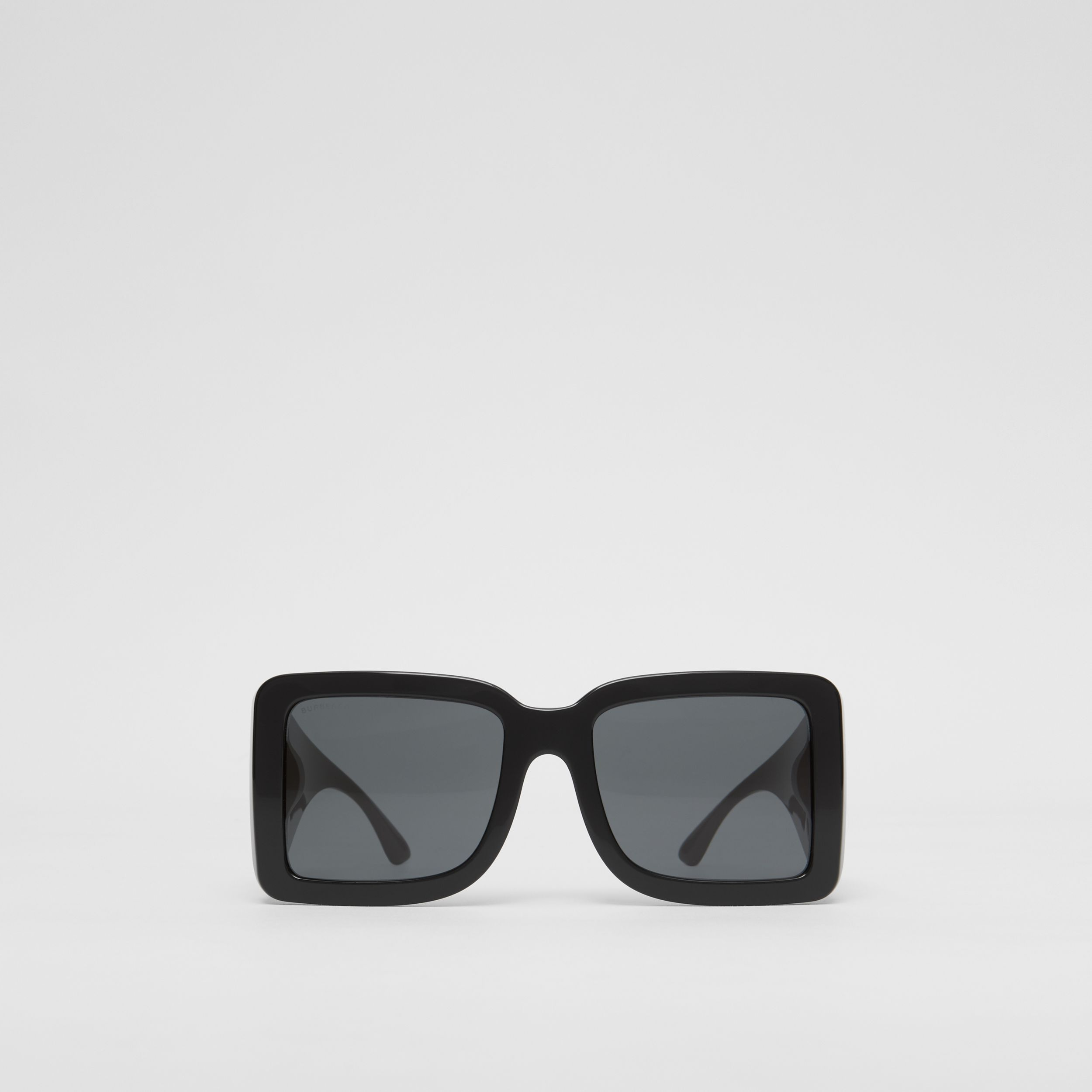 B Motif Square Frame Sunglasses in Black | Burberry United States - 1