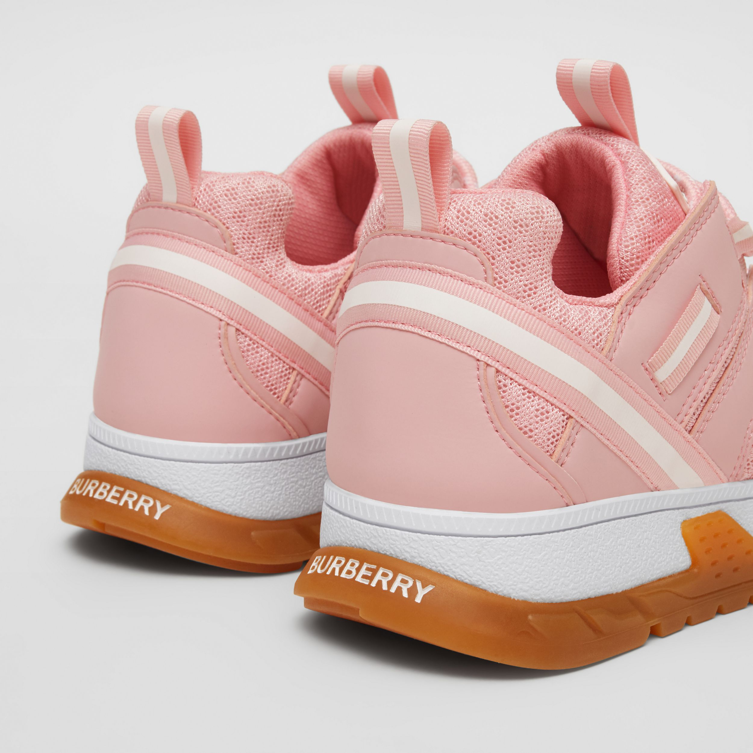 Nylon and Mesh Union Sneakers in Candy Pink - Children | Burberry - 2