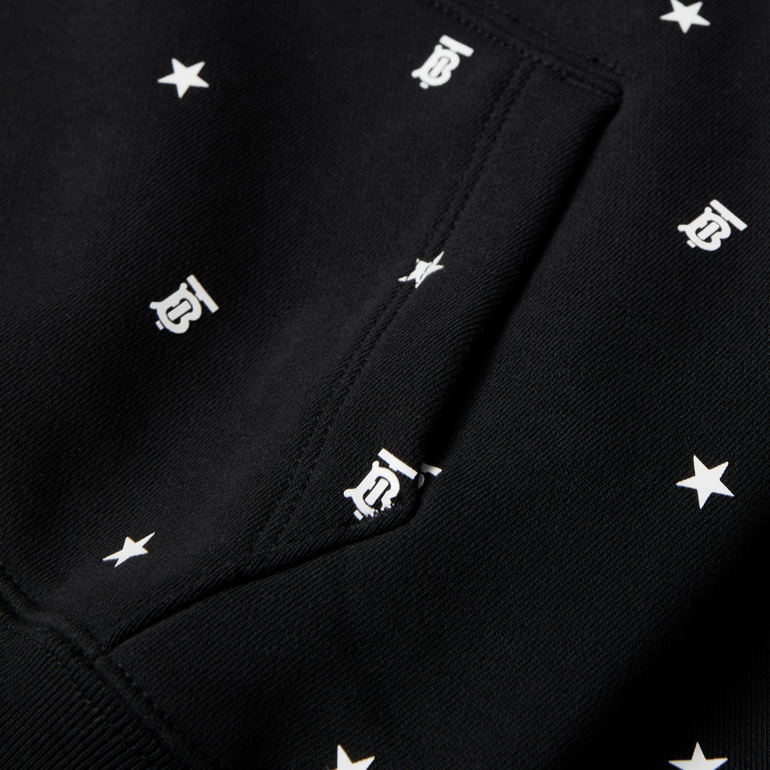 Star and Monogram Motif Cotton Sweatshirt in Black | Burberry - 2
