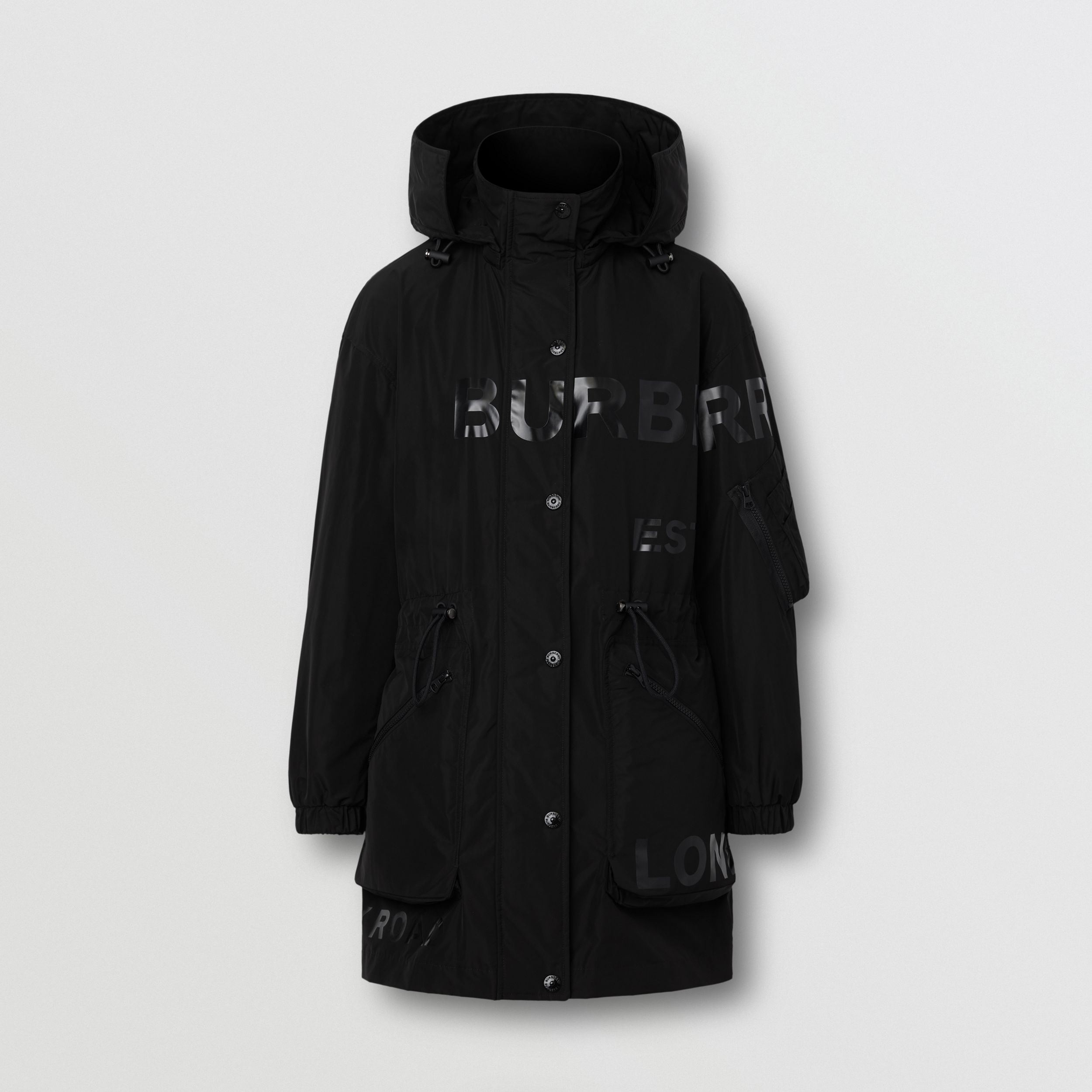 Horseferry Print Shape-memory Taffeta Parka - Women | Burberry - 3
