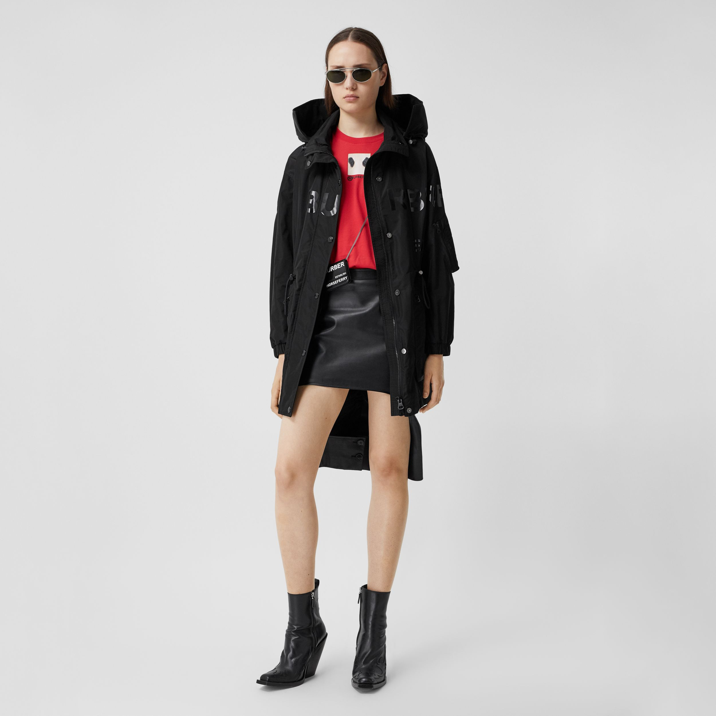 Horseferry Print Shape-memory Taffeta Parka - Women | Burberry Singapore - 1