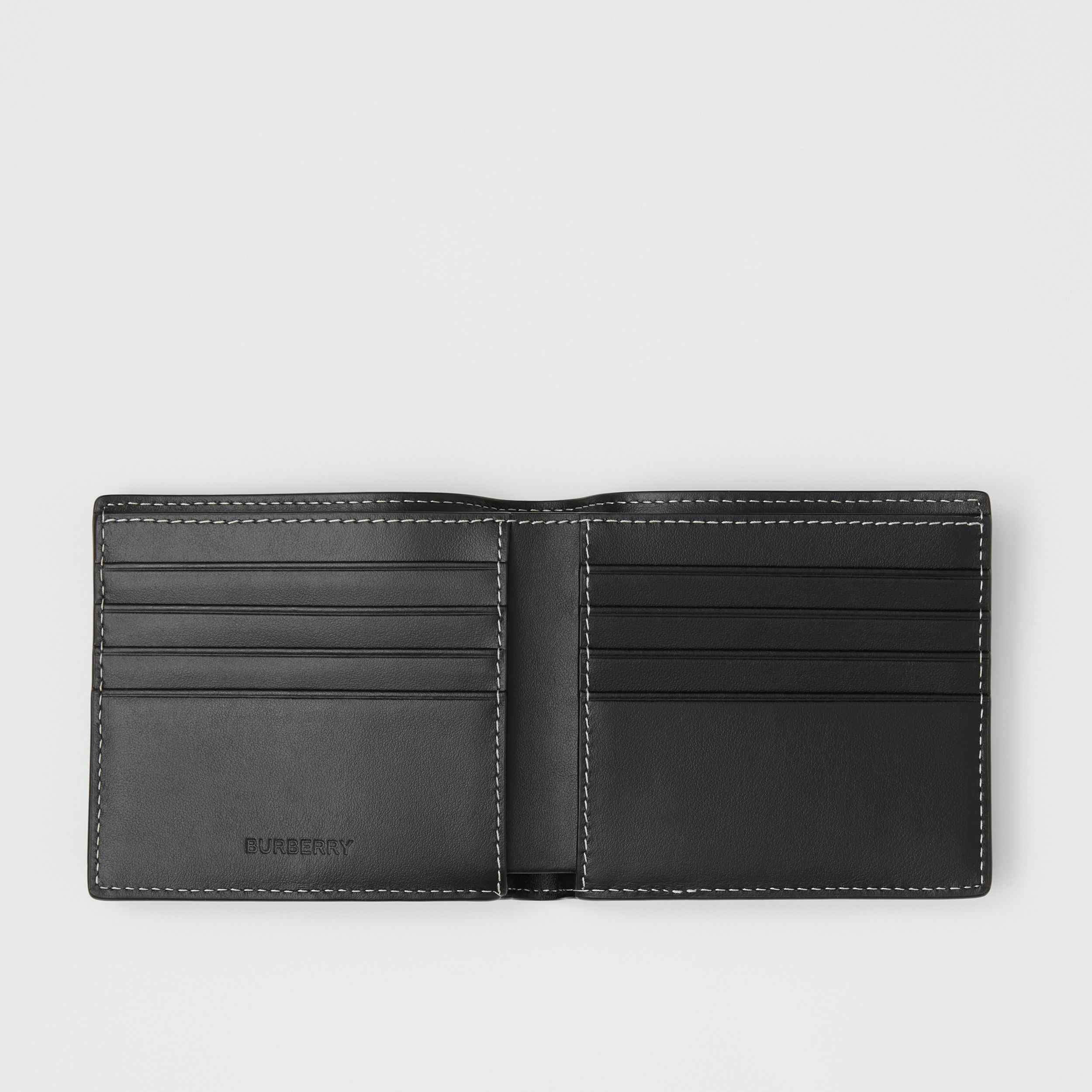 Check E-canvas International Bifold Wallet in Dark Birch Brown - Men | Burberry - 3