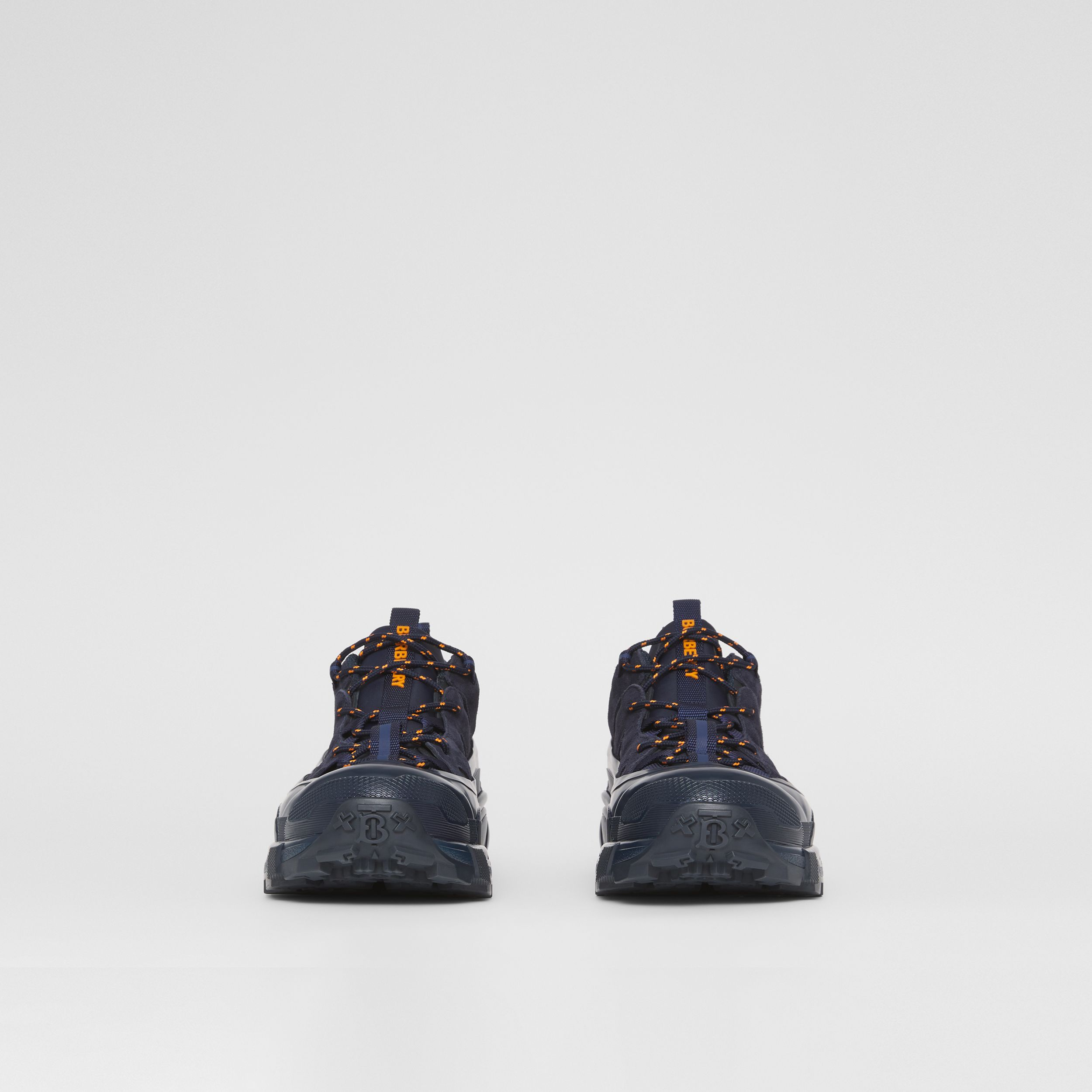 Nylon and Suede Arthur Sneakers – Online Exclusive in Navy - Men | Burberry - 3