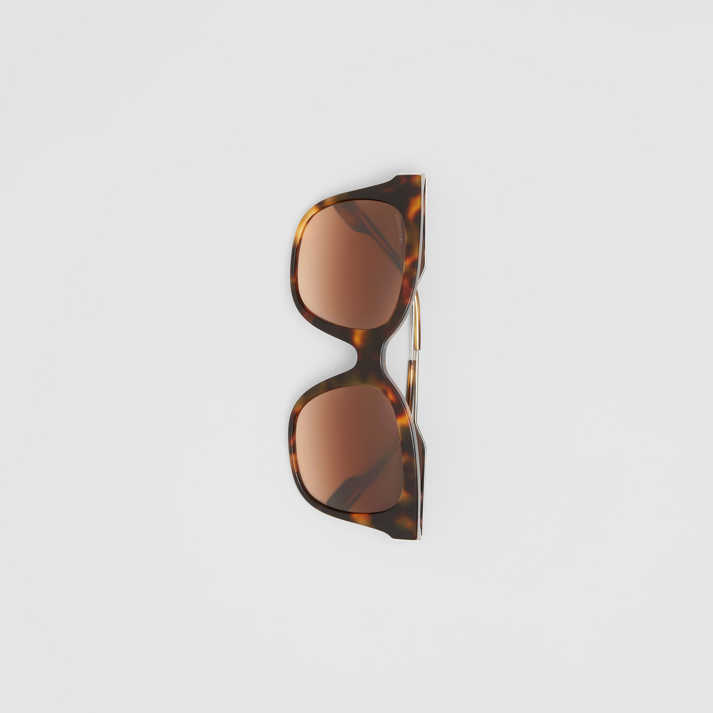 Butterfly Frame Sunglasses in Dark Amber Tortoiseshell - Women | Burberry - 4