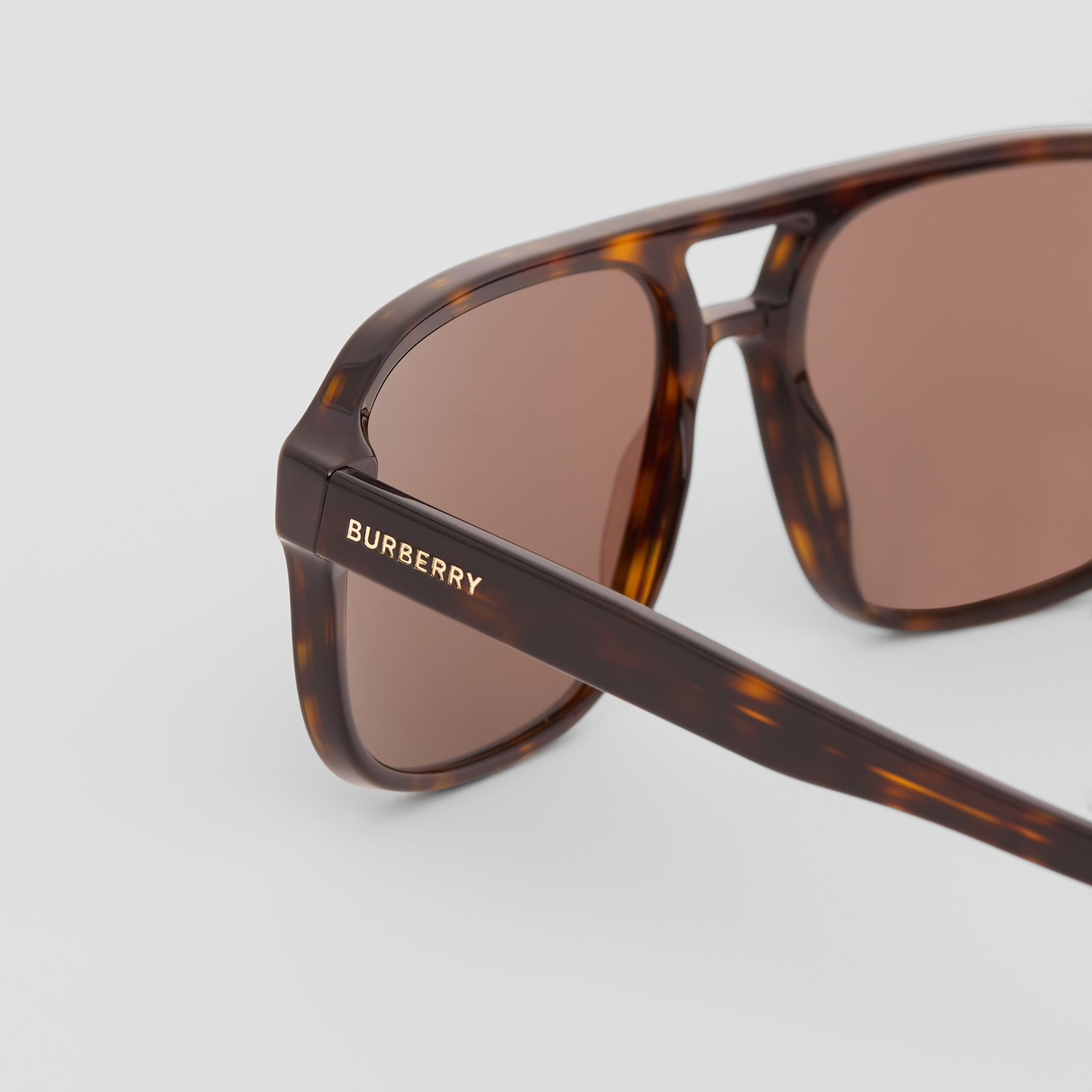 Square Frame Sunglasses in Tortoiseshell - Men | Burberry Hong Kong S.A.R. - 2