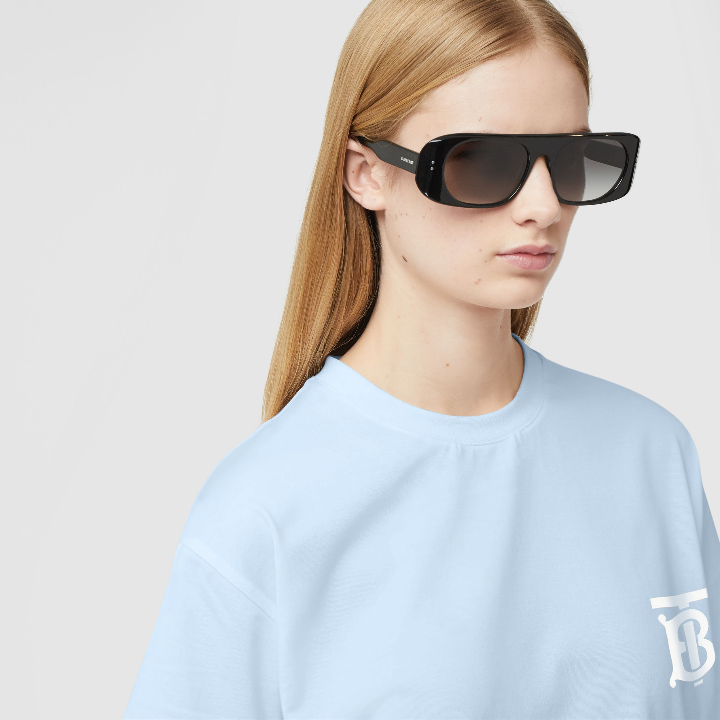 Monogram Motif Cotton Oversized T-shirt - Women | Burberry Australia - 2
