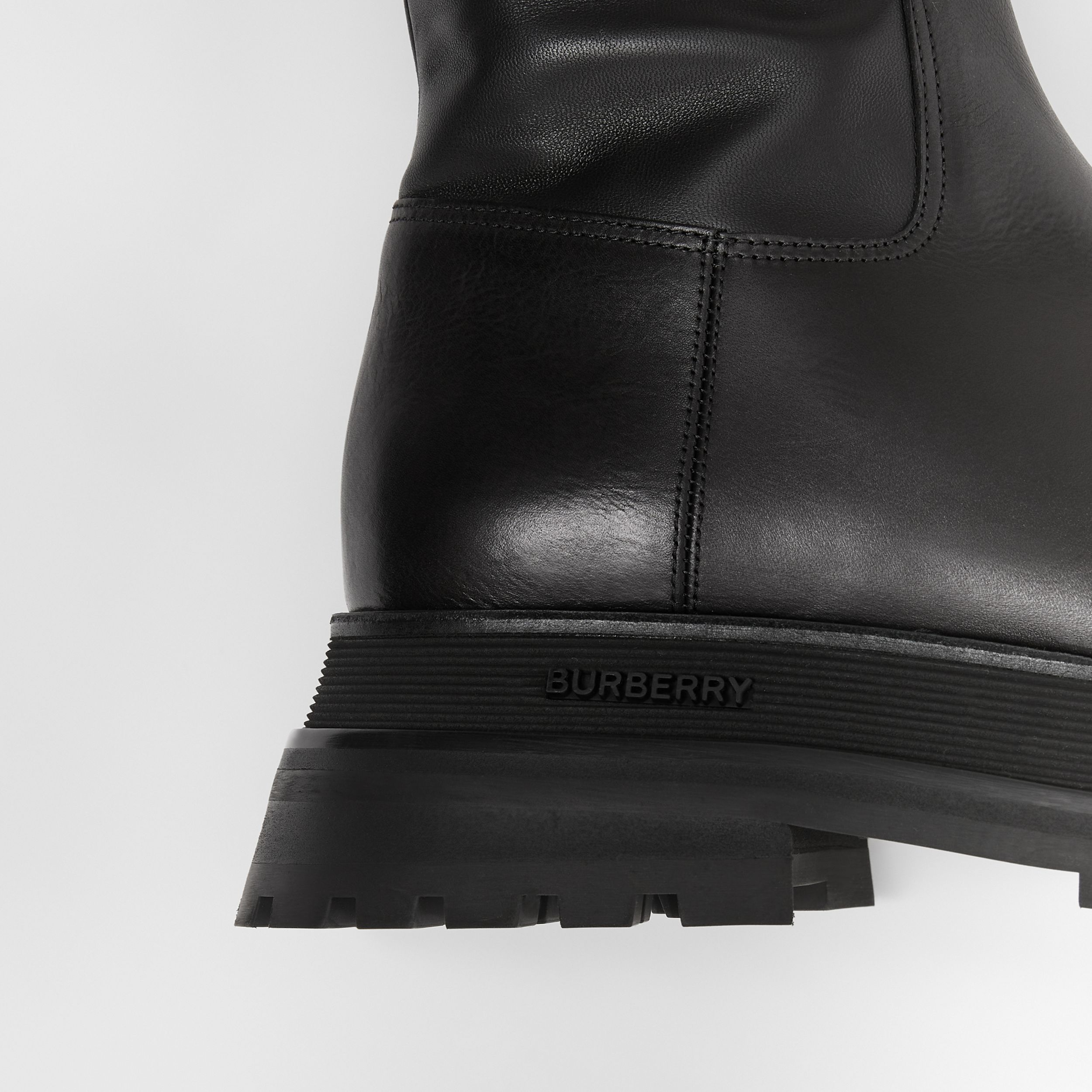 Leather and Lambskin Boots in Black - Women | Burberry - 2
