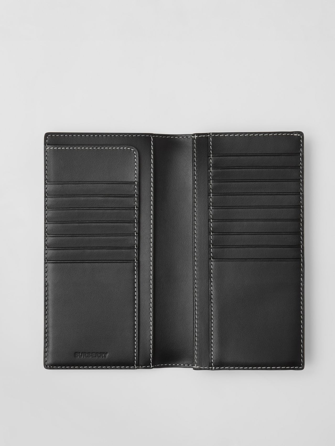 Check E-canvas Continental Wallet in Dark Birch Brown
