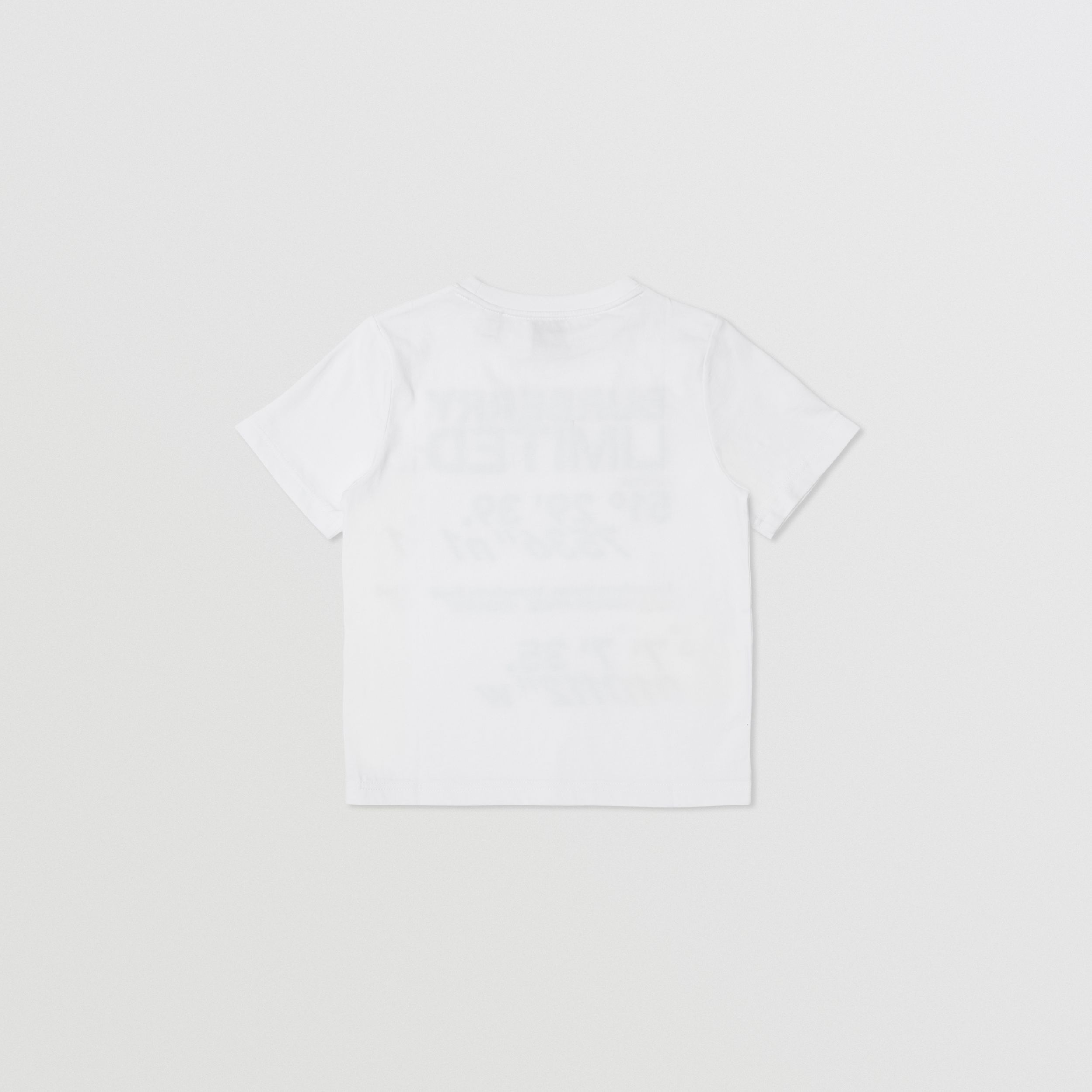 Coordinates Print Cotton T-shirt in White | Burberry - 3