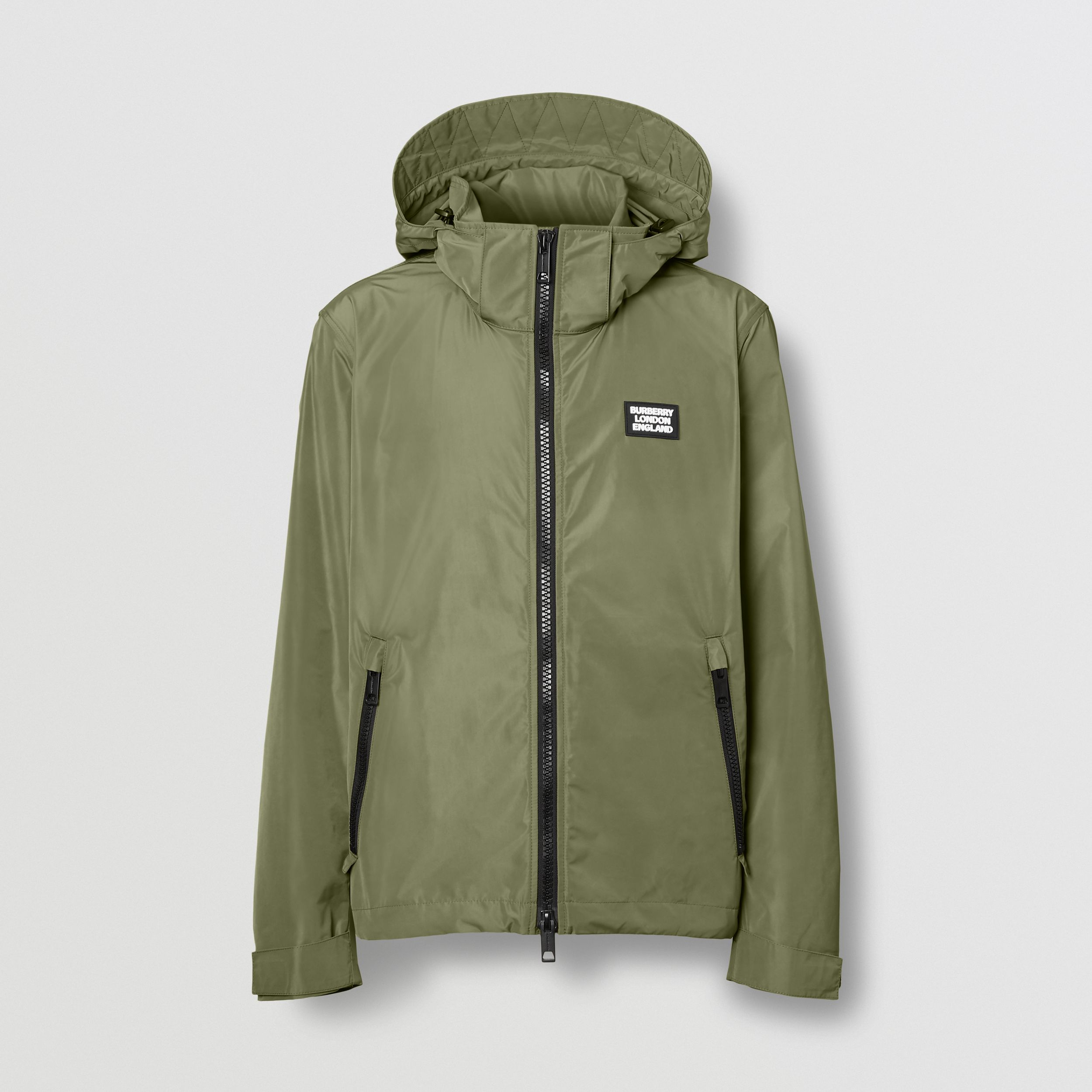 Packaway Hood Shape-memory Taffeta Jacket in Olive - Men | Burberry - 4
