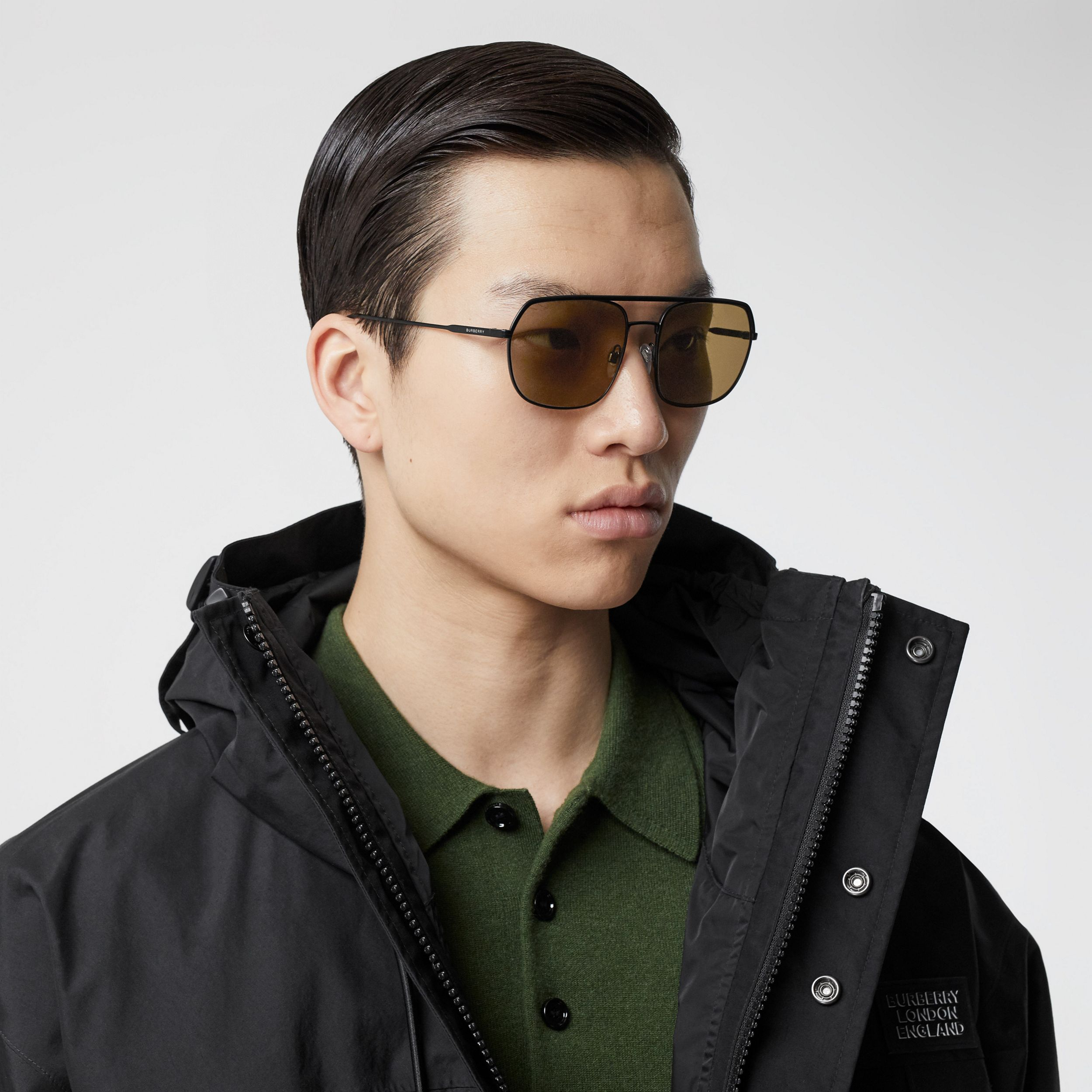 Square Pilot Sunglasses - Men | Burberry Hong Kong S.A.R. - 3