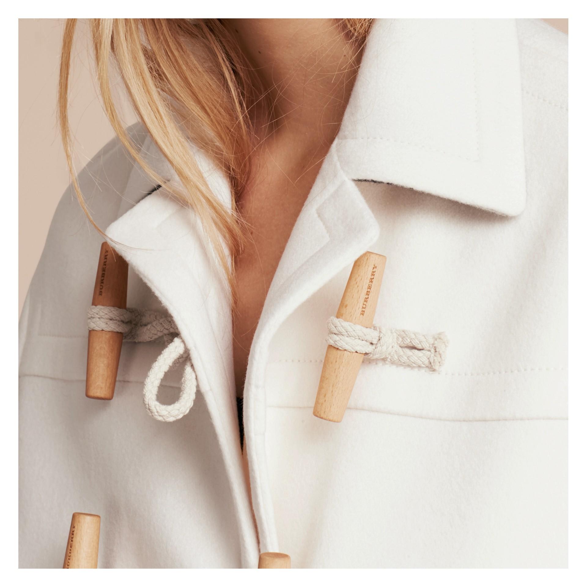 White Cashmere Duffle Coat White - gallery image 6