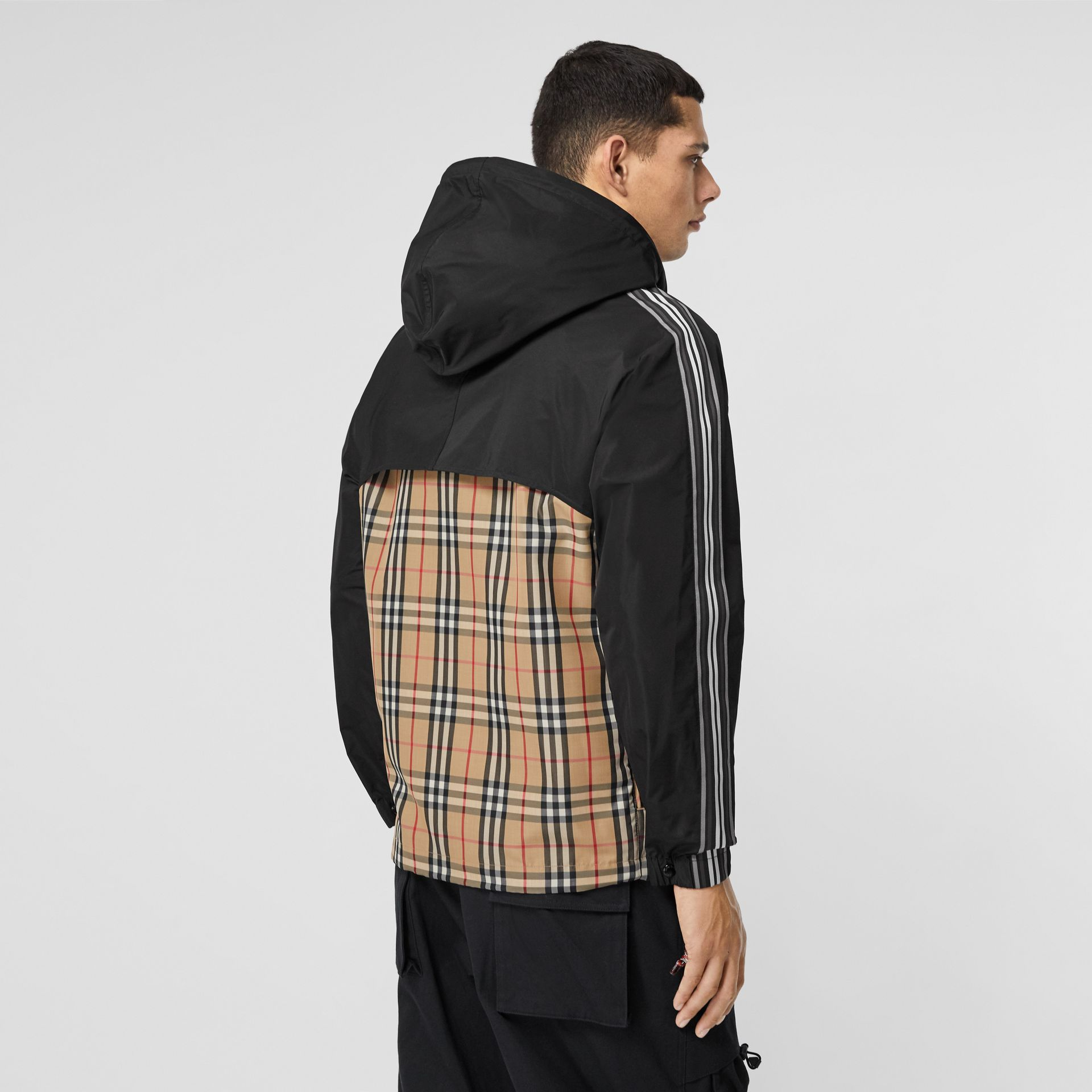 Check Panel Shape-memory Taffeta Hooded Jacket in Archive Beige - Men | Burberry Hong Kong S.A.R - gallery image 2