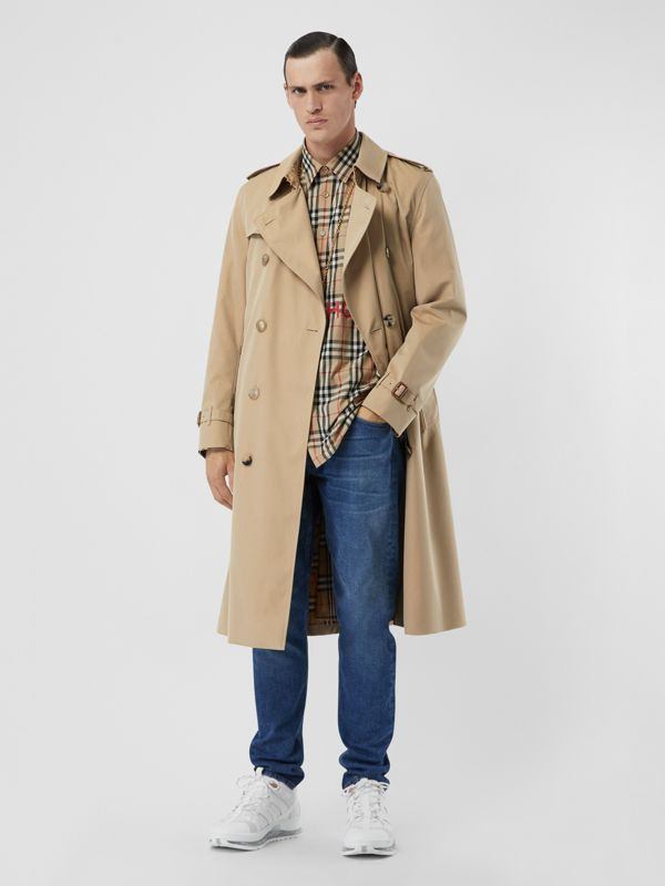 The Kensington - Trench coat Heritage longo (Mel) - Homens | Burberry - cell image 2