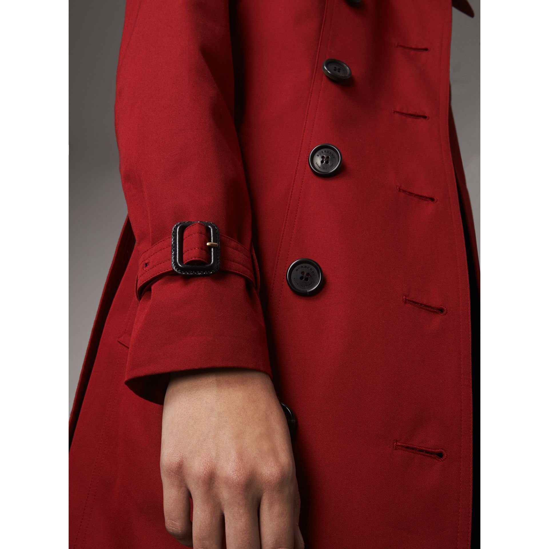 The Sandringham  – Long Trench Coat in Parade Red - Women | Burberry - gallery image 5