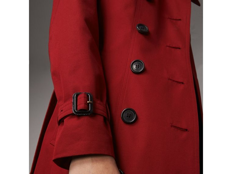 The Sandringham  – Long Trench Coat in Parade Red - Women | Burberry - cell image 4