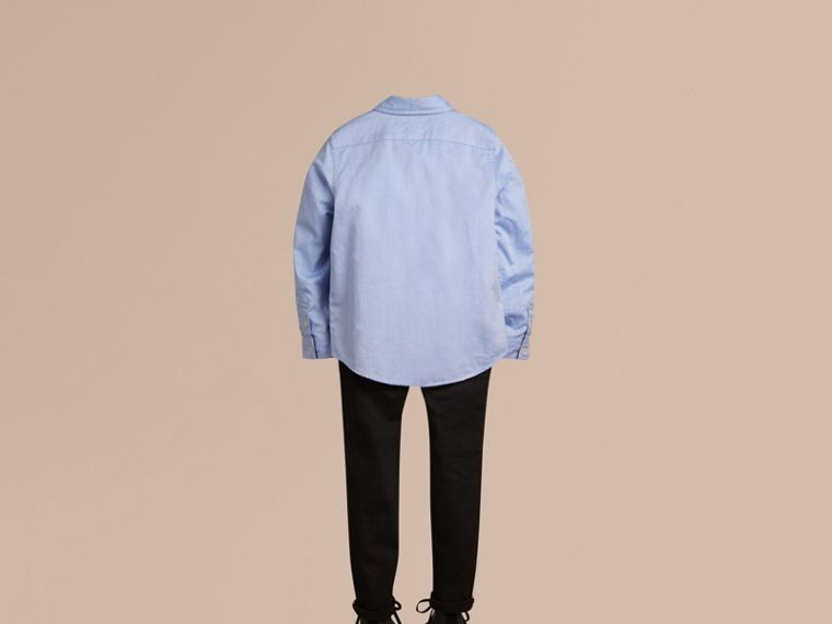 Classic Oxford Shirt in Cornflower Blue - Boy | Burberry United States - cell image 2