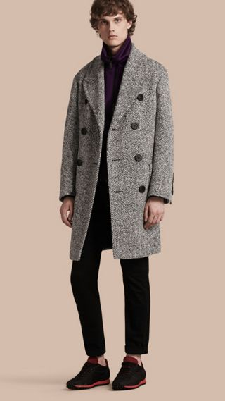 Herringbone Wool Topcoat