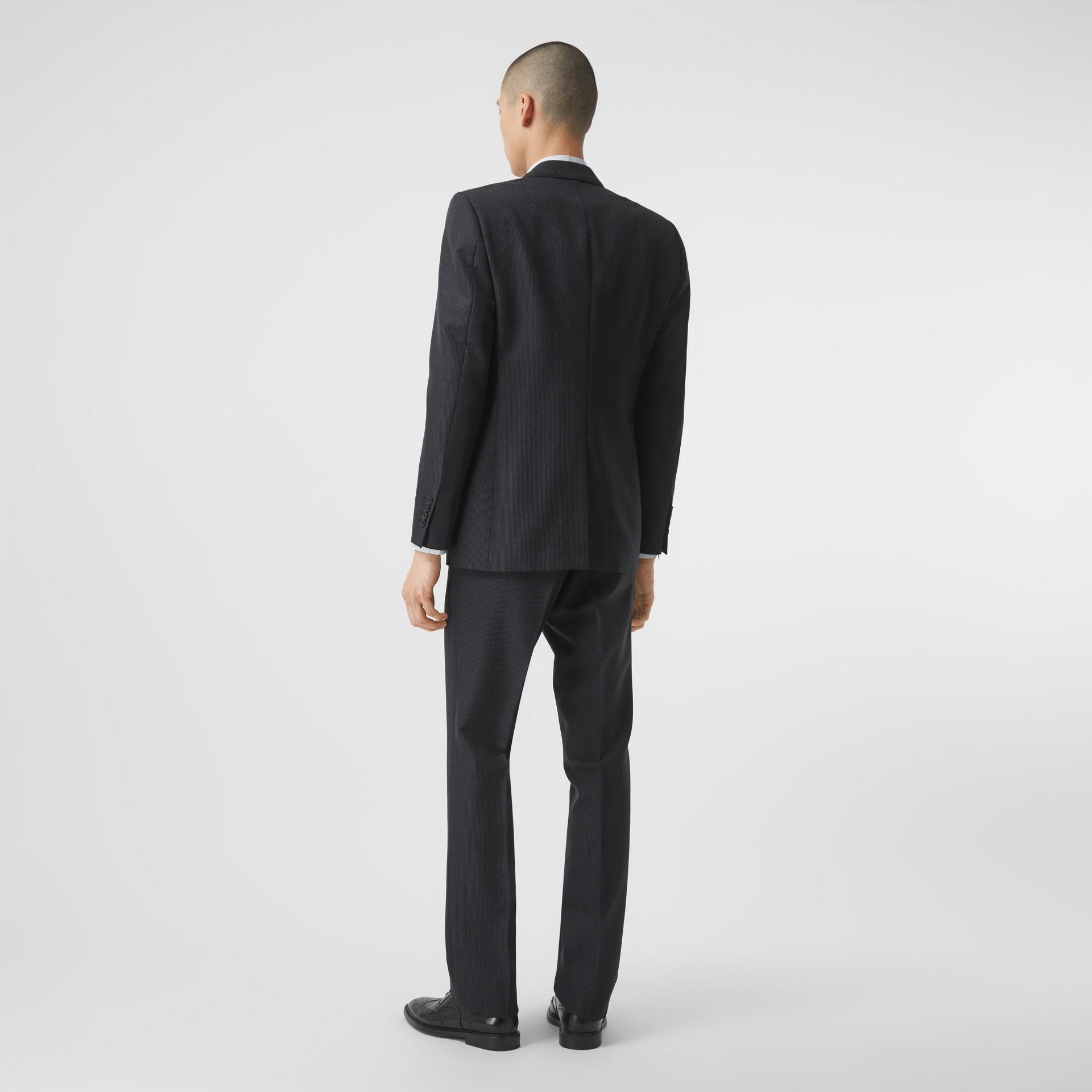 クラシックフィット パピートゥースチェック ウールモヘア スーツ (ネイビー) - メンズ | バーバリー - ギャラリーイメージ 2