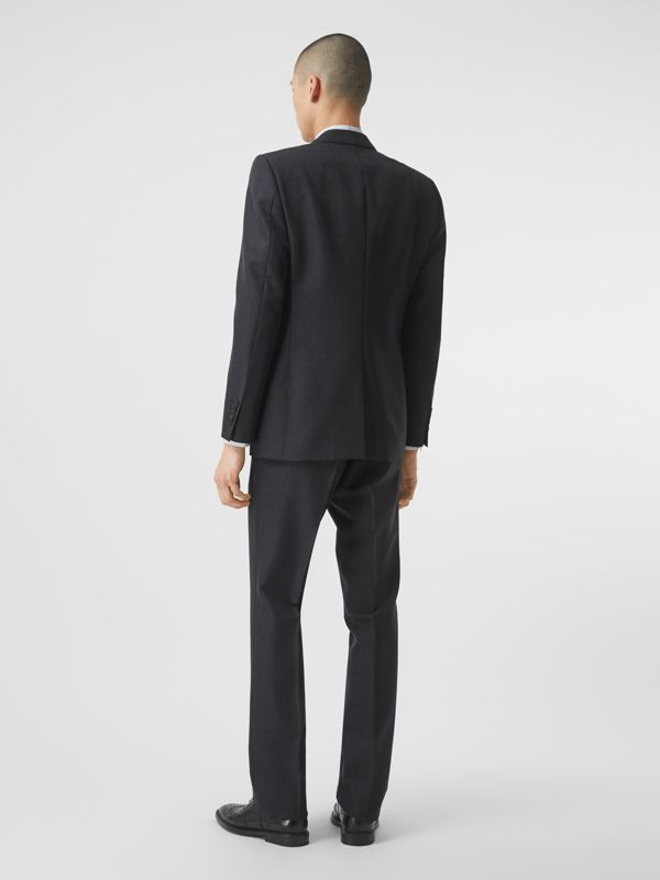 Classic Fit Puppytooth Check Wool Mohair Suit in Navy - Men | Burberry - cell image 2