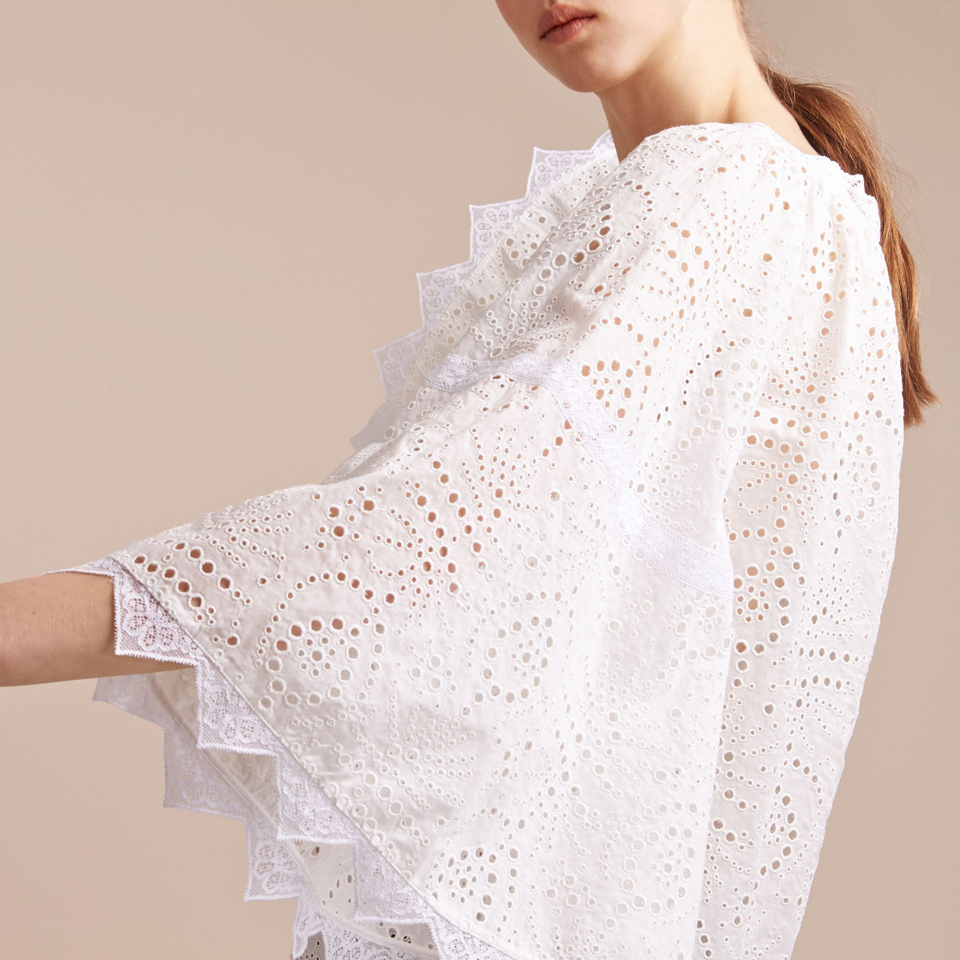 Broderie Anglaise Flared Top - gallery image 5