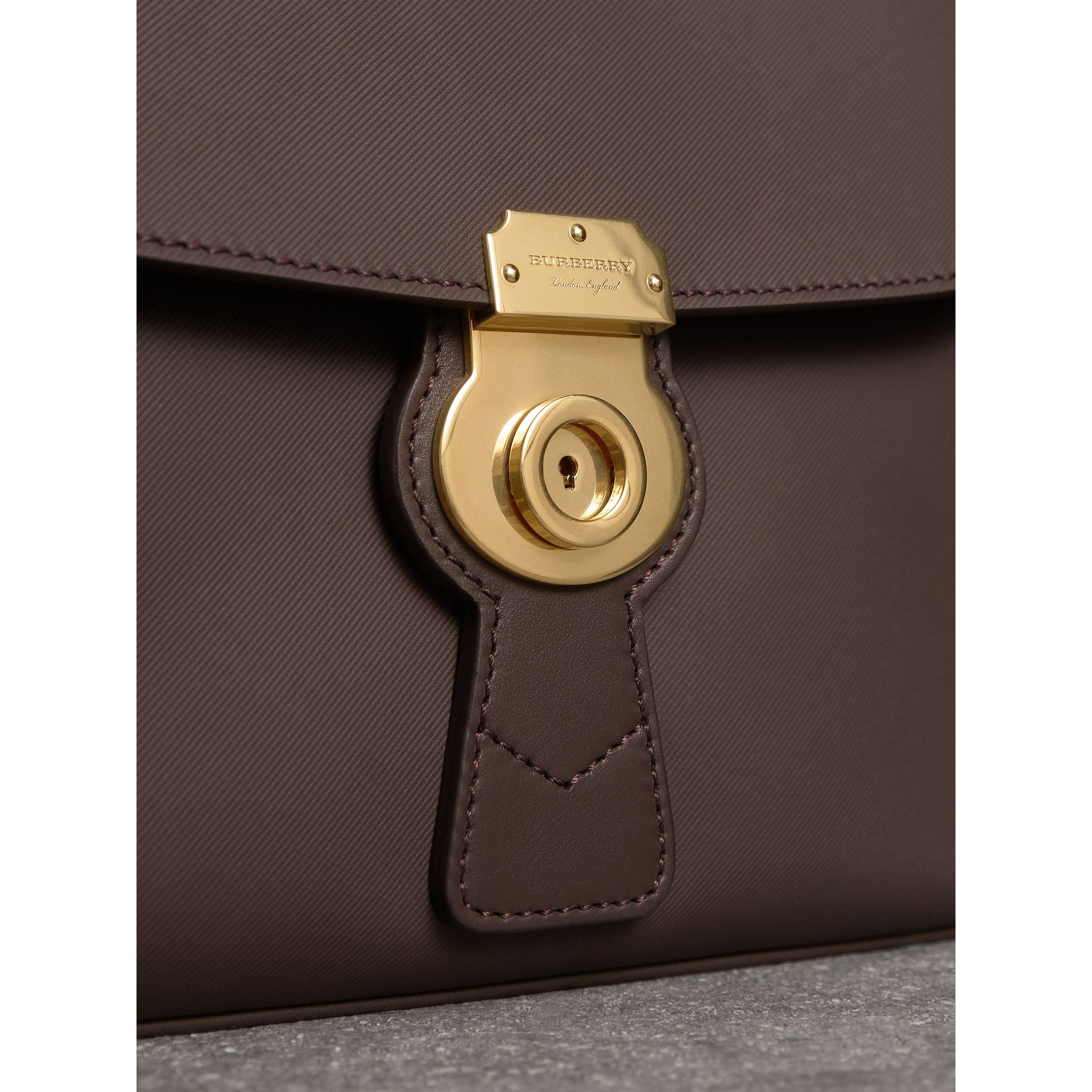 The Medium DK88 Top Handle Bag in Dark Chocolate - Women | Burberry United Kingdom - gallery image 1