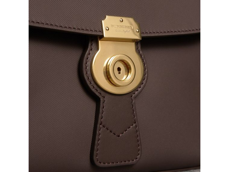 The Medium DK88 Top Handle Bag in Dark Chocolate - Women | Burberry United Kingdom - cell image 1