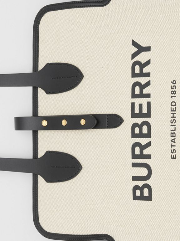 The Medium Soft Cotton Canvas Belt Bag in Black - Women | Burberry United Kingdom - cell image 1