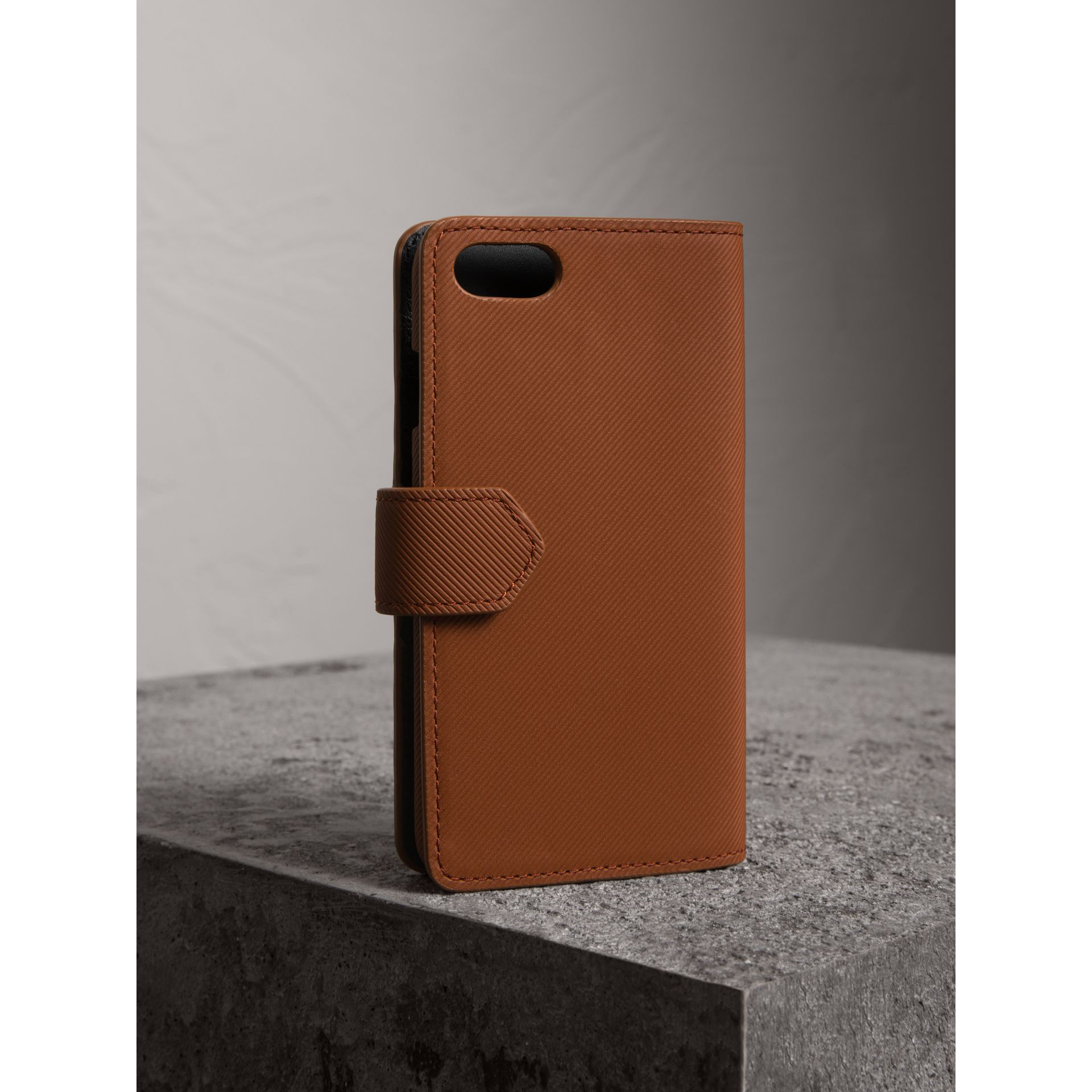 Trench Leather iPhone 7 Case in Tan | Burberry United Kingdom - gallery image 2