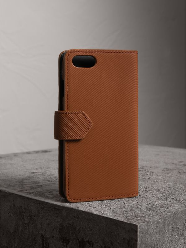 Trench Leather iPhone 7 Case in Tan | Burberry - cell image 2