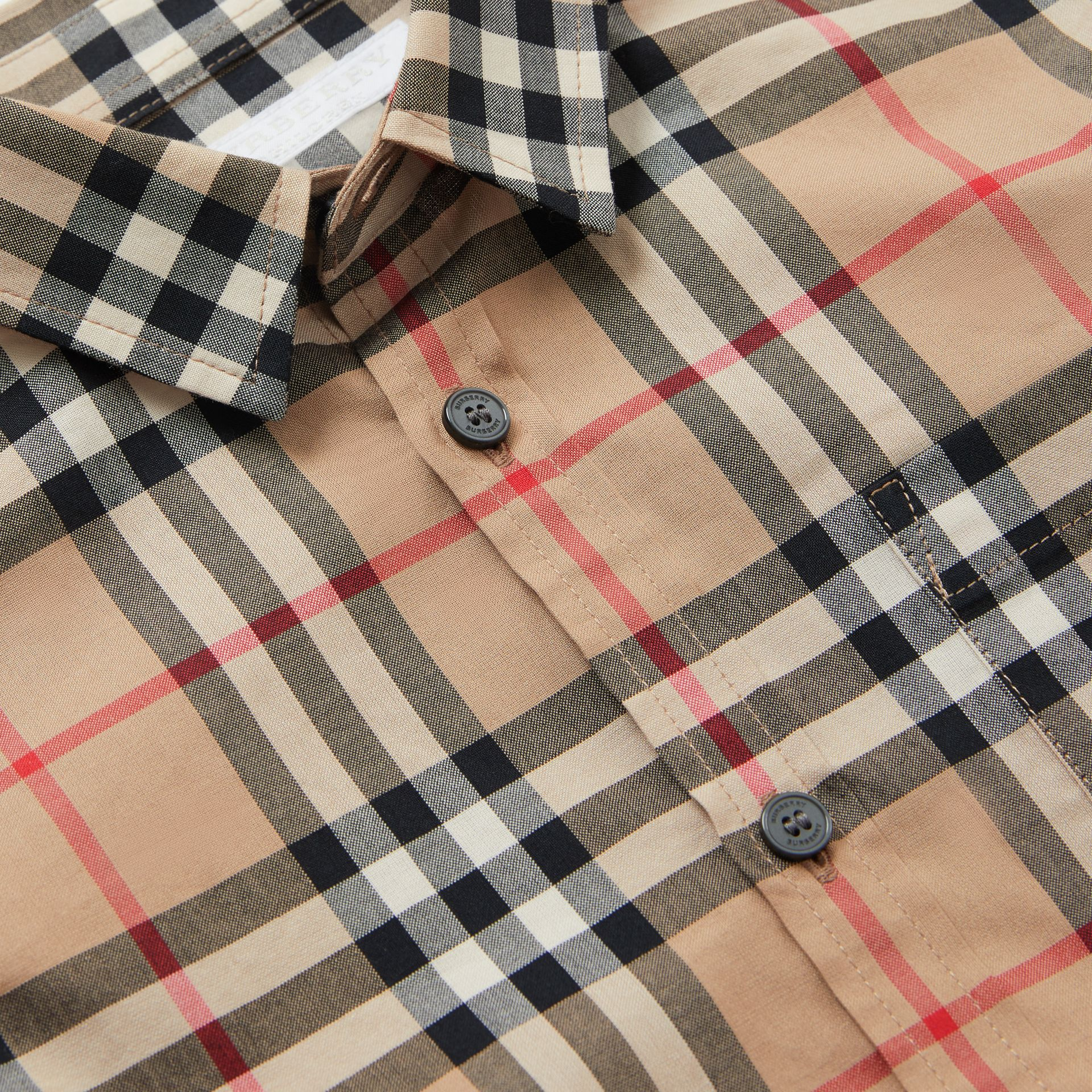 Vintage Check Cotton Poplin Shirt in Archive Beige | Burberry United States - gallery image 1