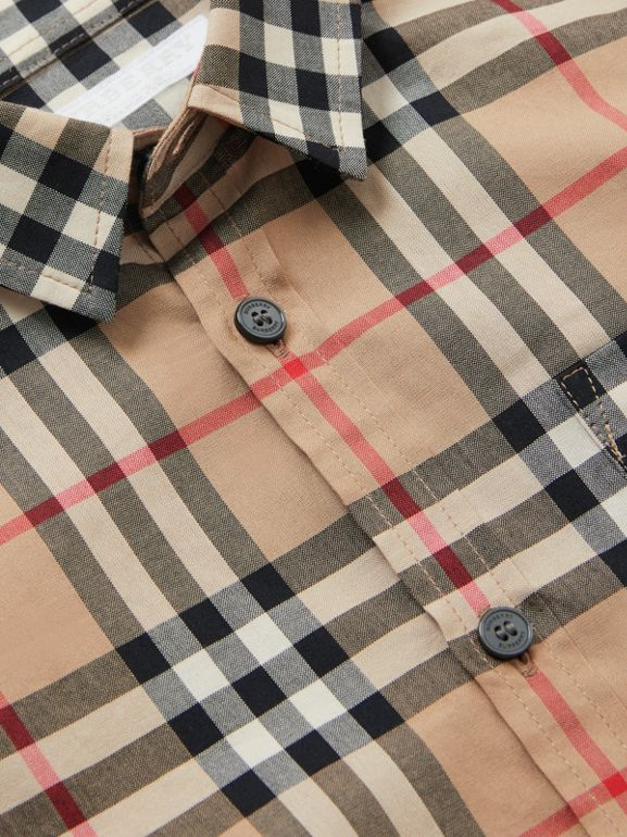 Vintage Check Cotton Poplin Shirt in Archive Beige | Burberry United States - cell image 1