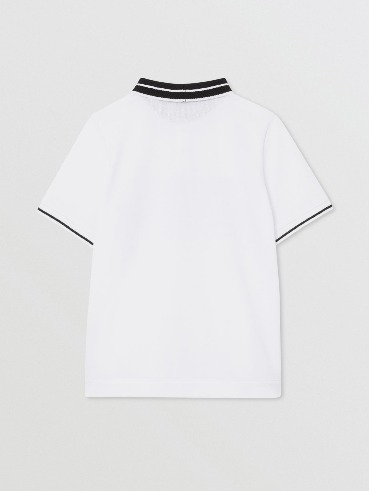 Location Print Cotton Piqué Polo Shirt in White