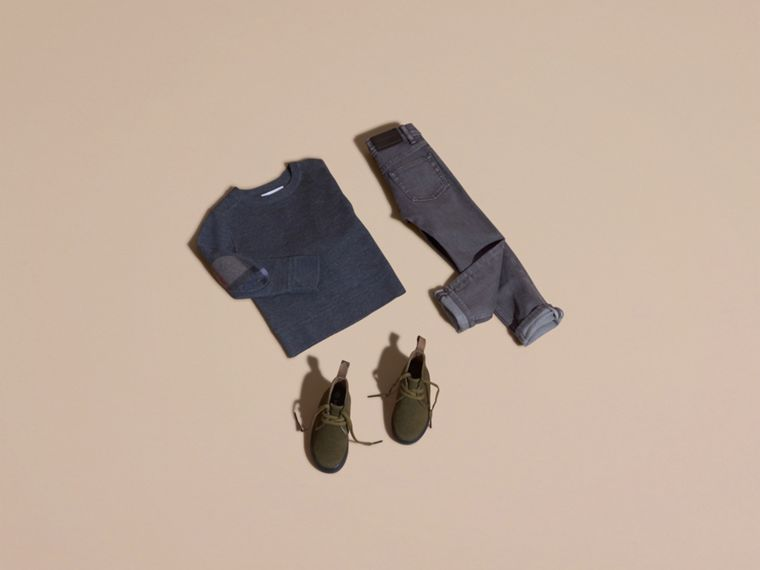 Jeans attillati in denim stretch (Nero Fumo) - Bambino | Burberry - cell image 4