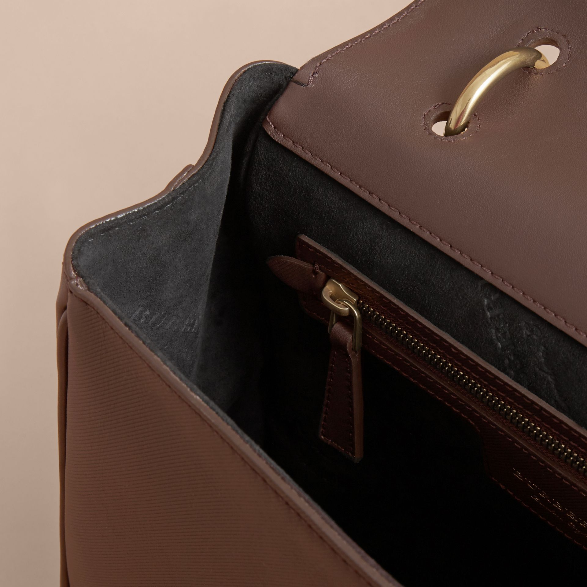 The Medium DK88 Top Handle Bag in Dark Chocolate - gallery image 4