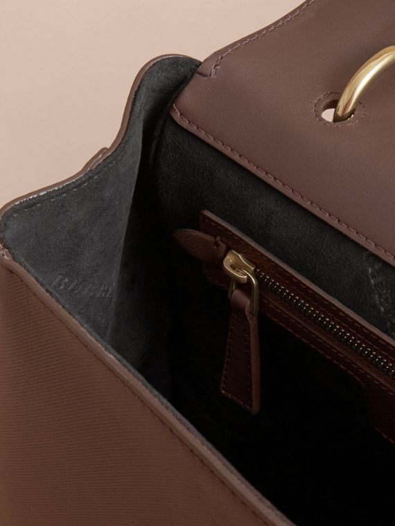 The Medium DK88 Top Handle Bag in Dark Chocolate - cell image 3